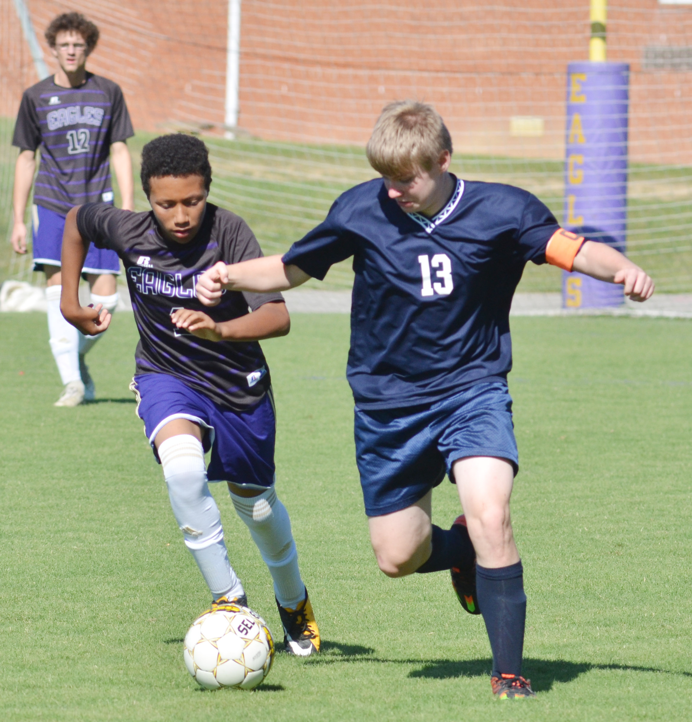 CHS freshman Jastyn Shively runs for the ball.