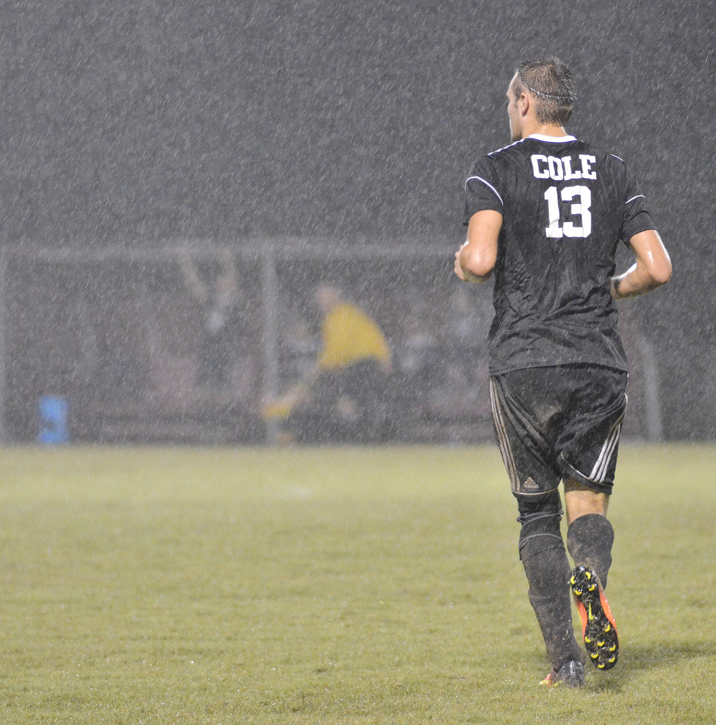CHS senior Logan Cole runs down the field.