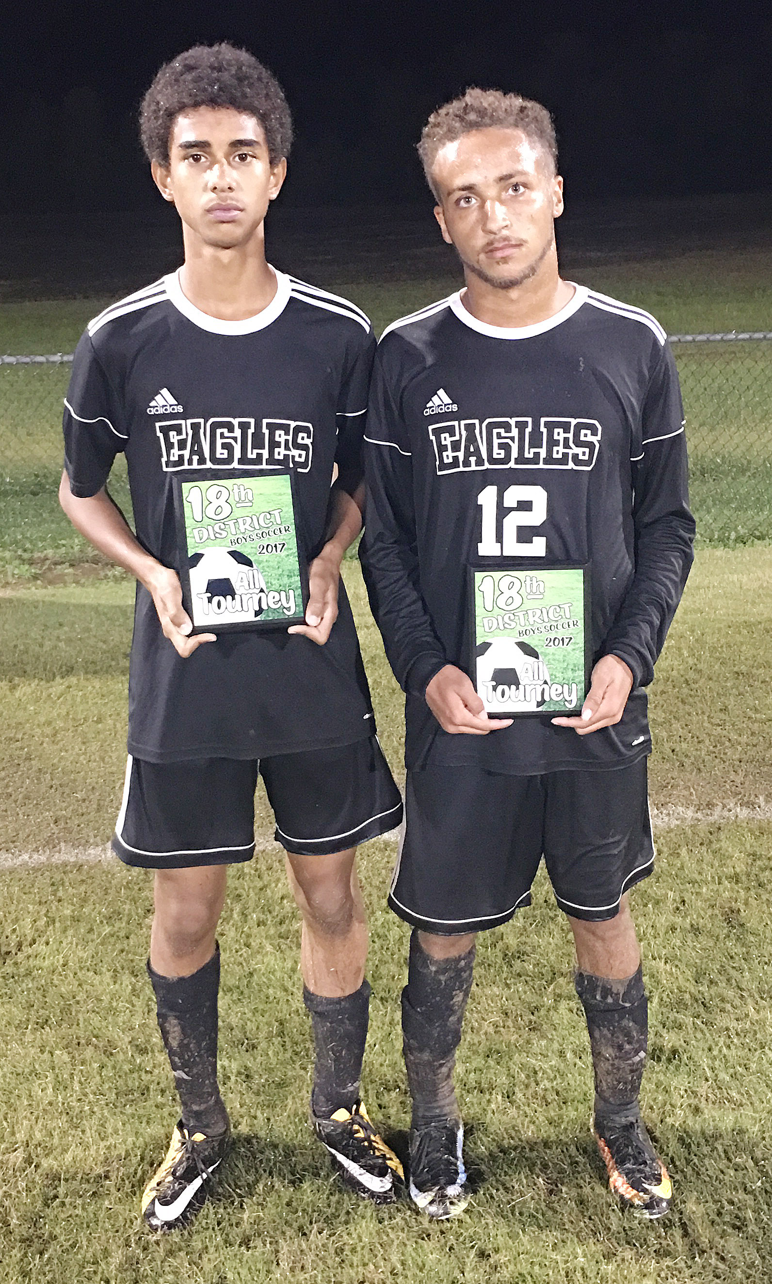 CHS sophomore David Silva, at left, and senior Ethan Lay were named to the 18th District all-tournament team.