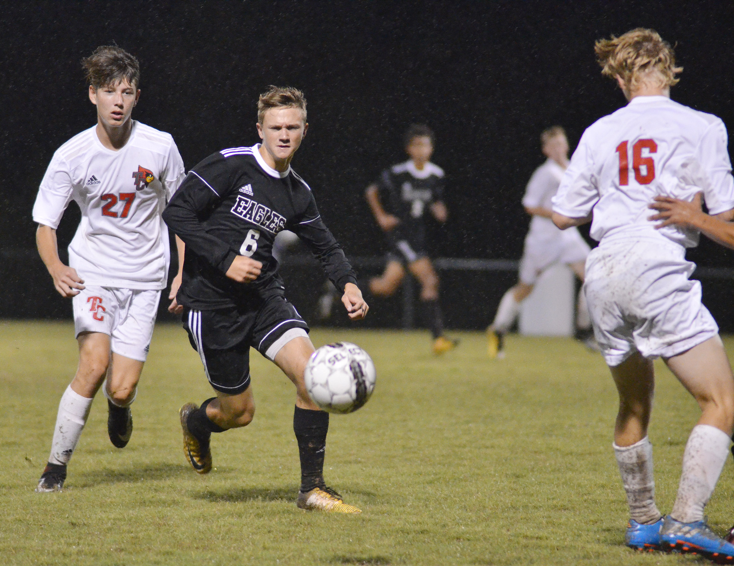 CHS freshman Blase Wheatley runs for the ball.