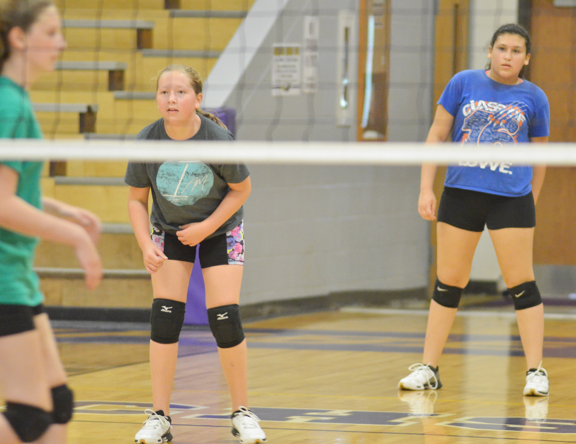 CMS sixth-grader Ava Hughes watches the ball.