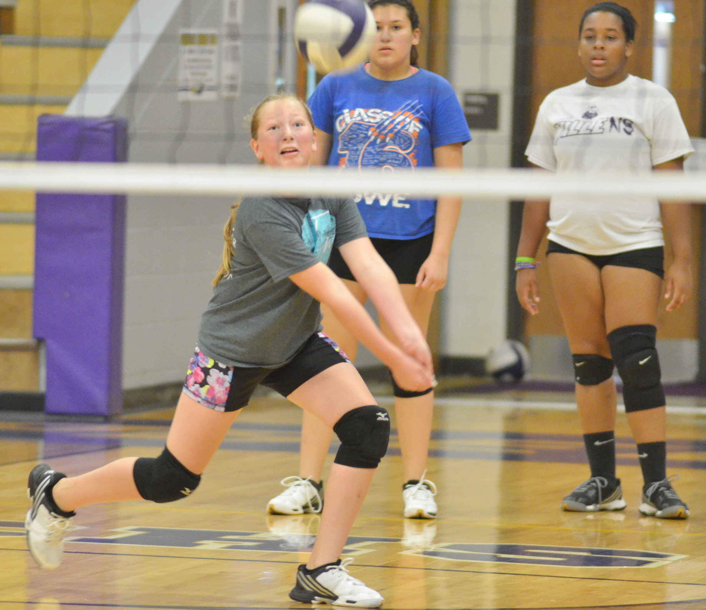 CMS sixth-grader Ava Hughes hits the ball.