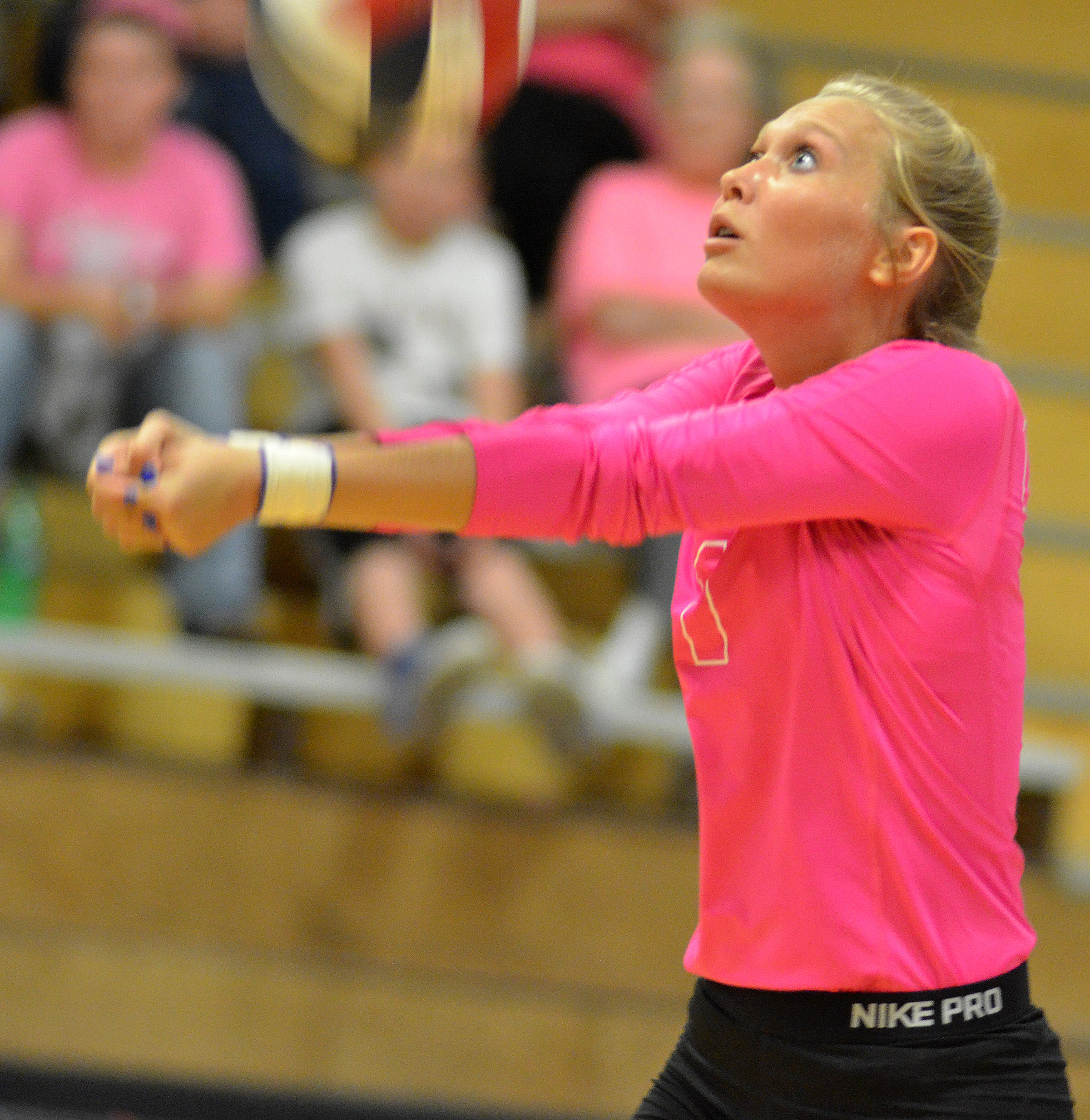 CHS junior Tatem Wiseman hits the ball.