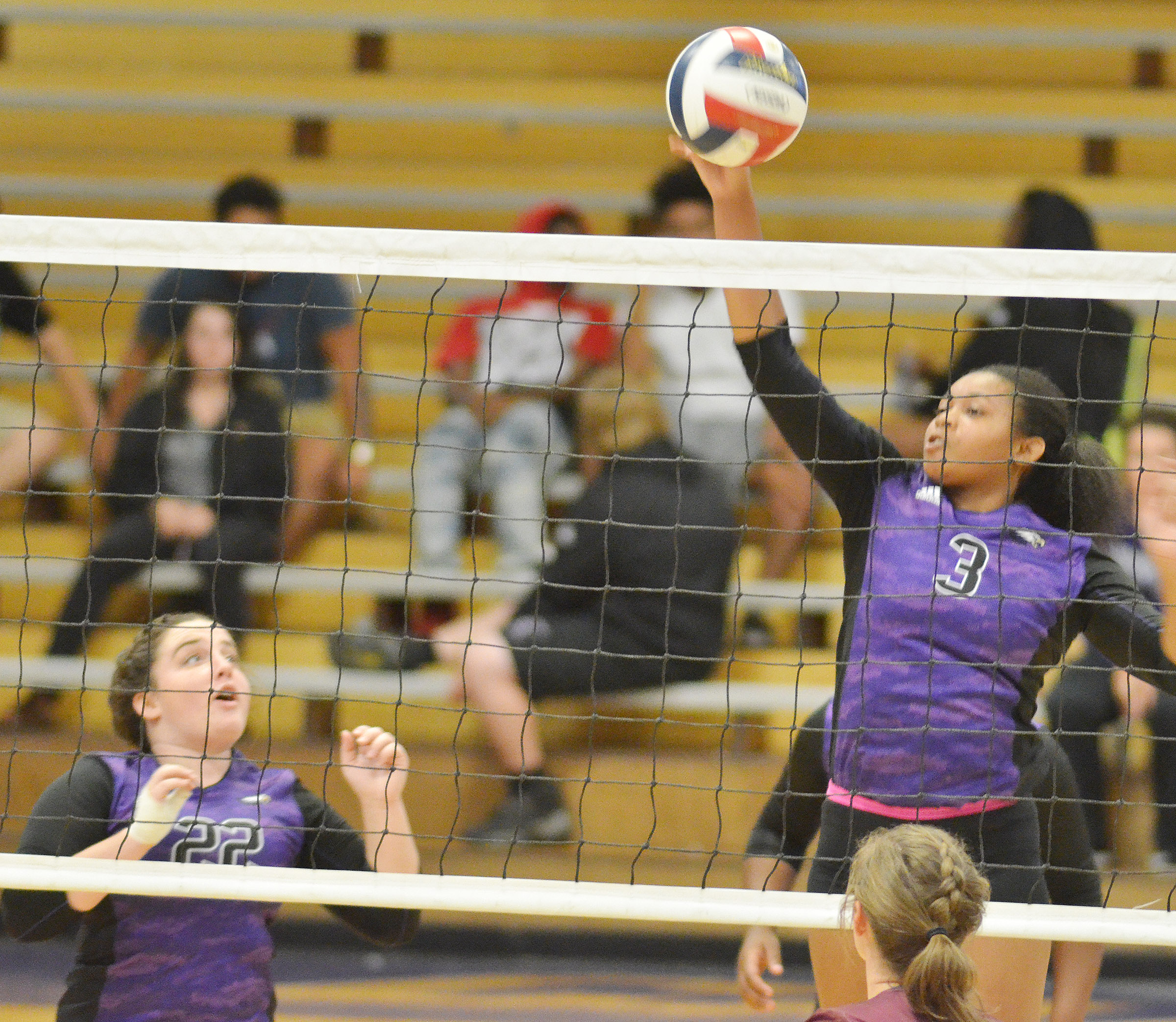CHS senior Vonnea Smith hits the ball.