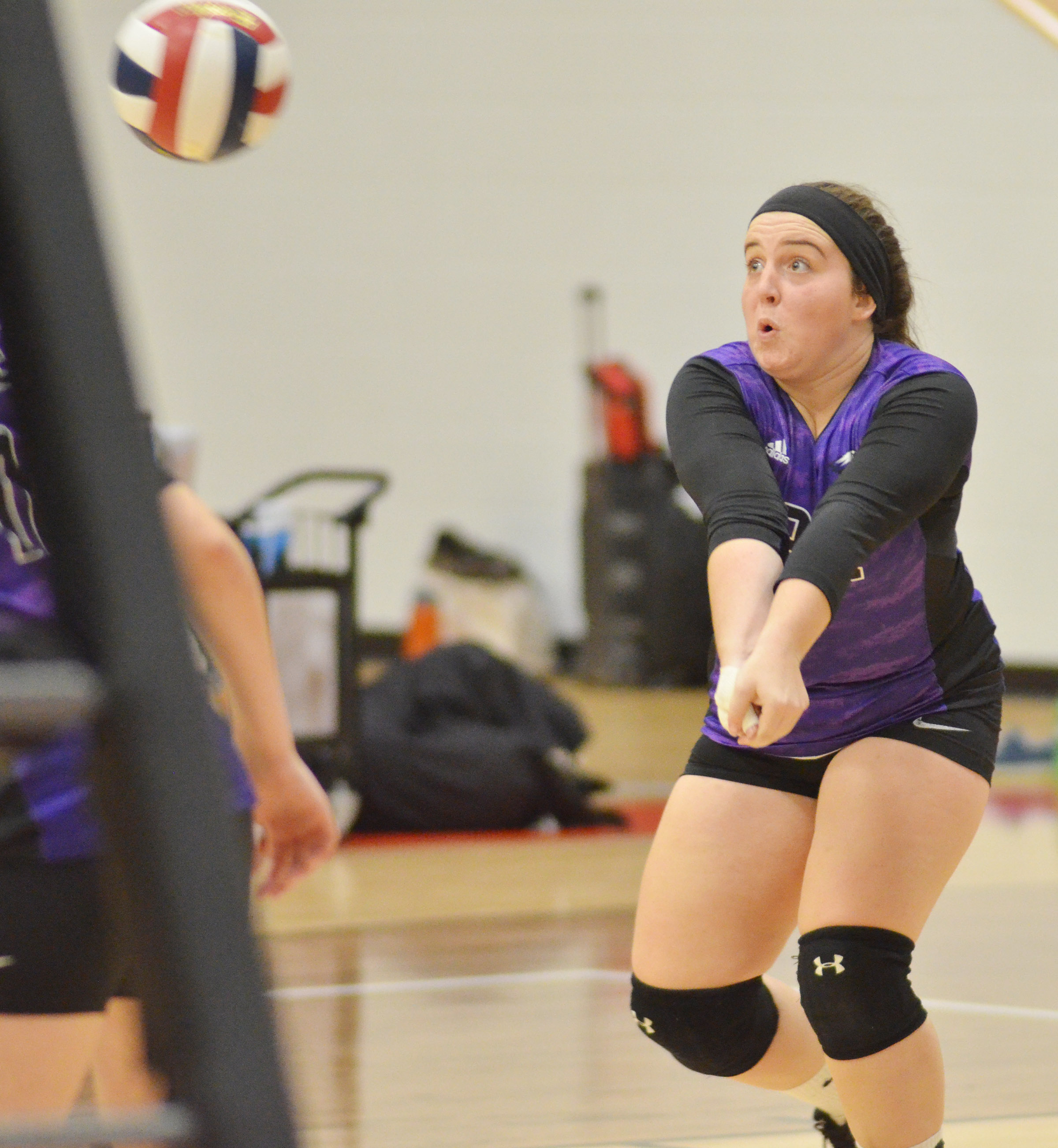 CHS senior Caitlin Bright hits the ball.