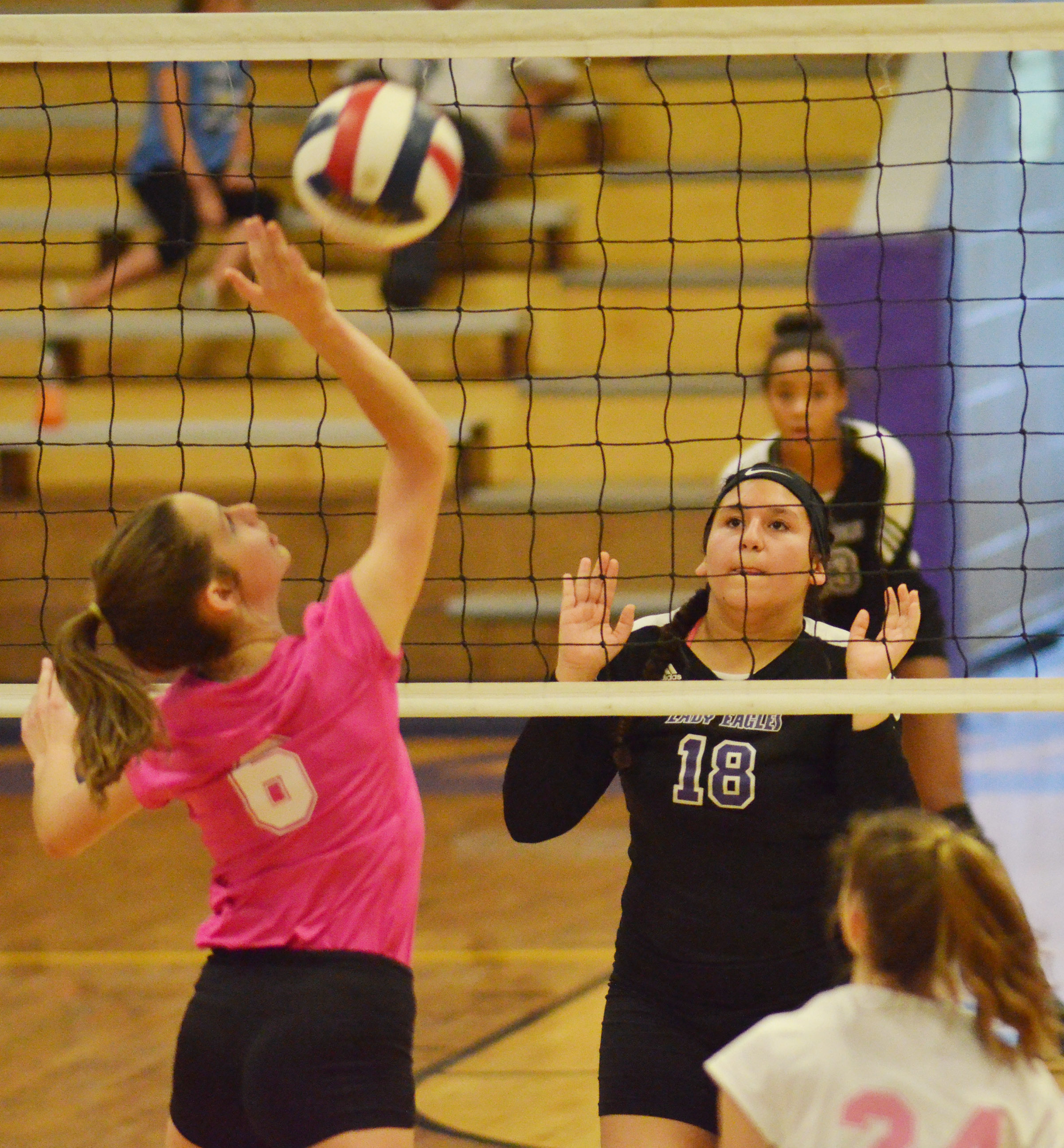 CHS freshman Anna Clara Moura watches the ball.