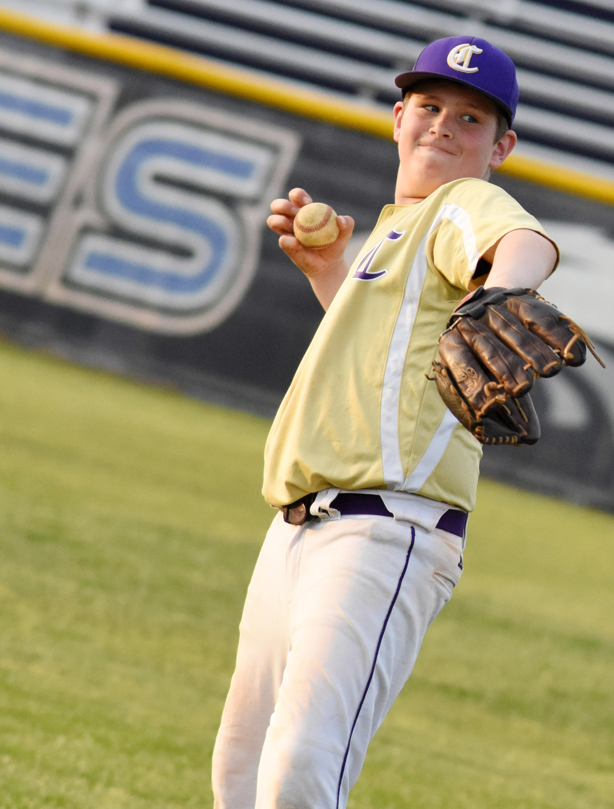 CMS seventh-grader Weston Mattingly throws.