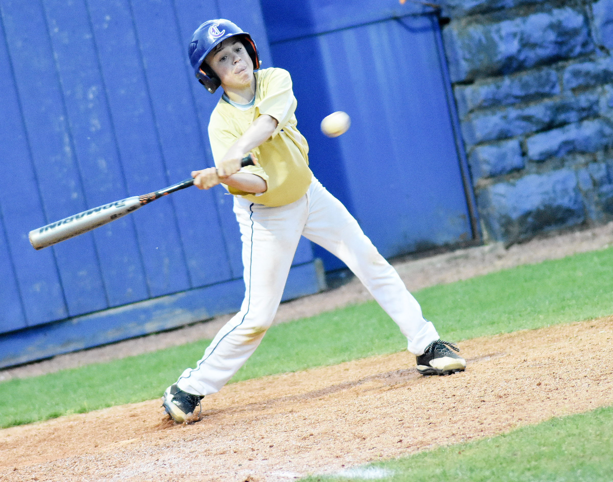 CMS seventh-grader Chase Hord bats.