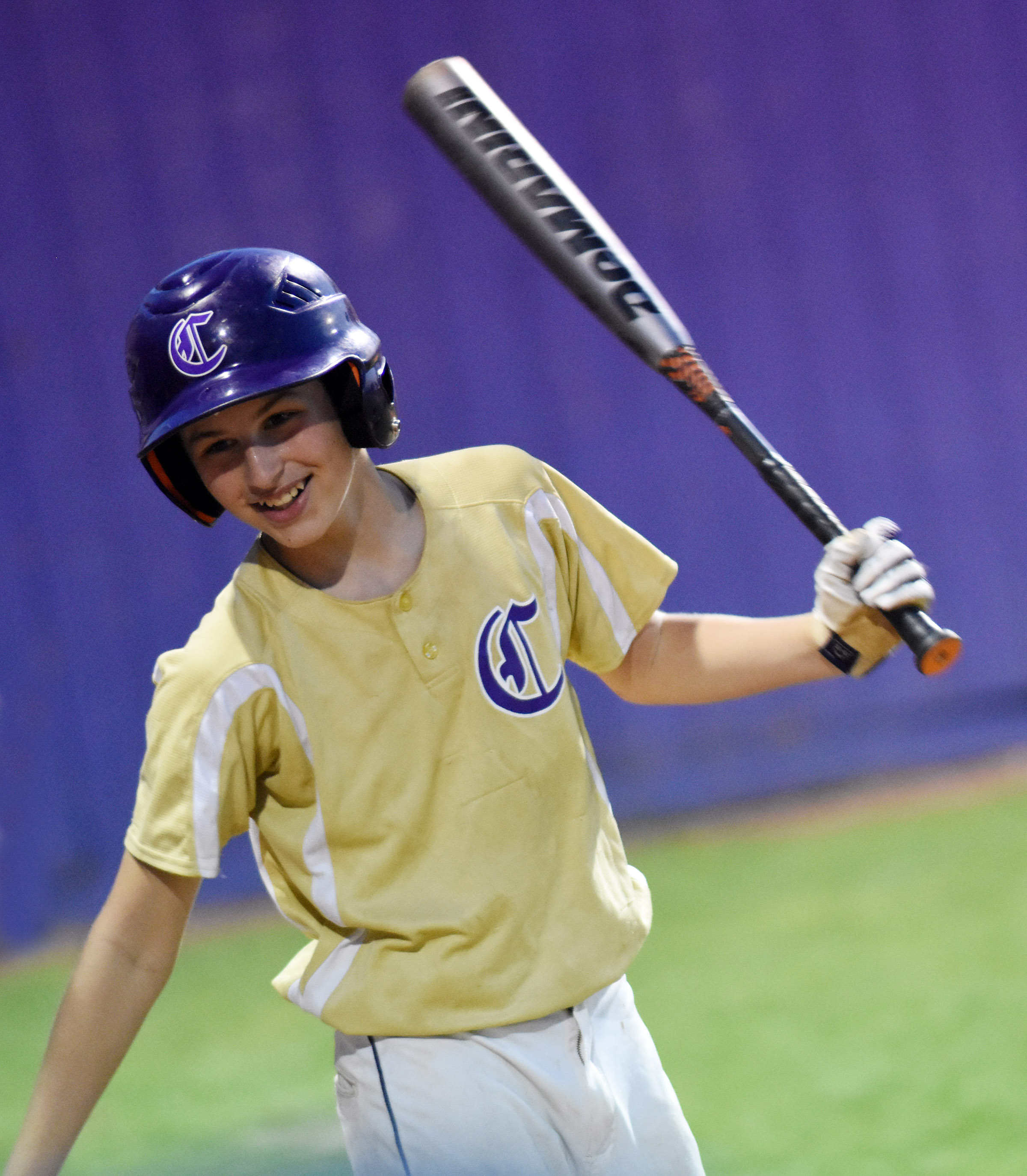 CMS sixth-grader Jaxon Sidebottom waits to bat.