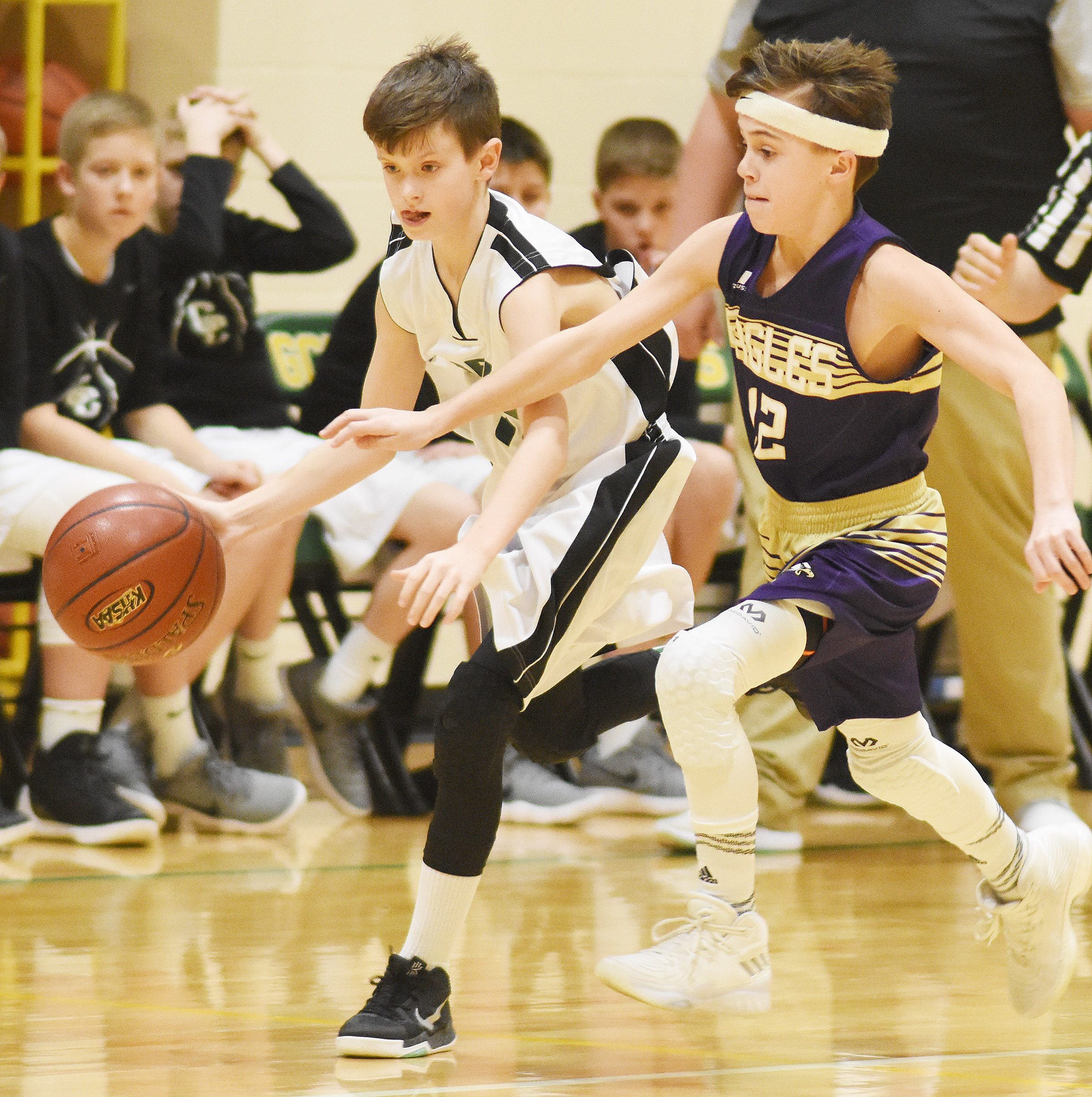CMS seventh-grader Chase Hord looks to steal.