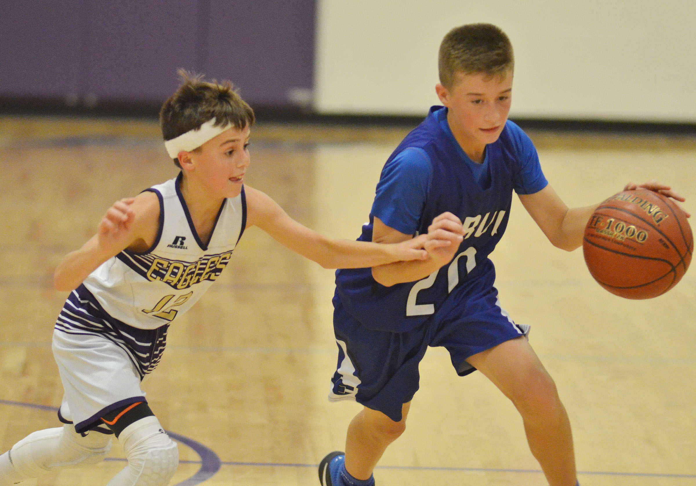 CMS seventh-grader Chase Hord plays defense.