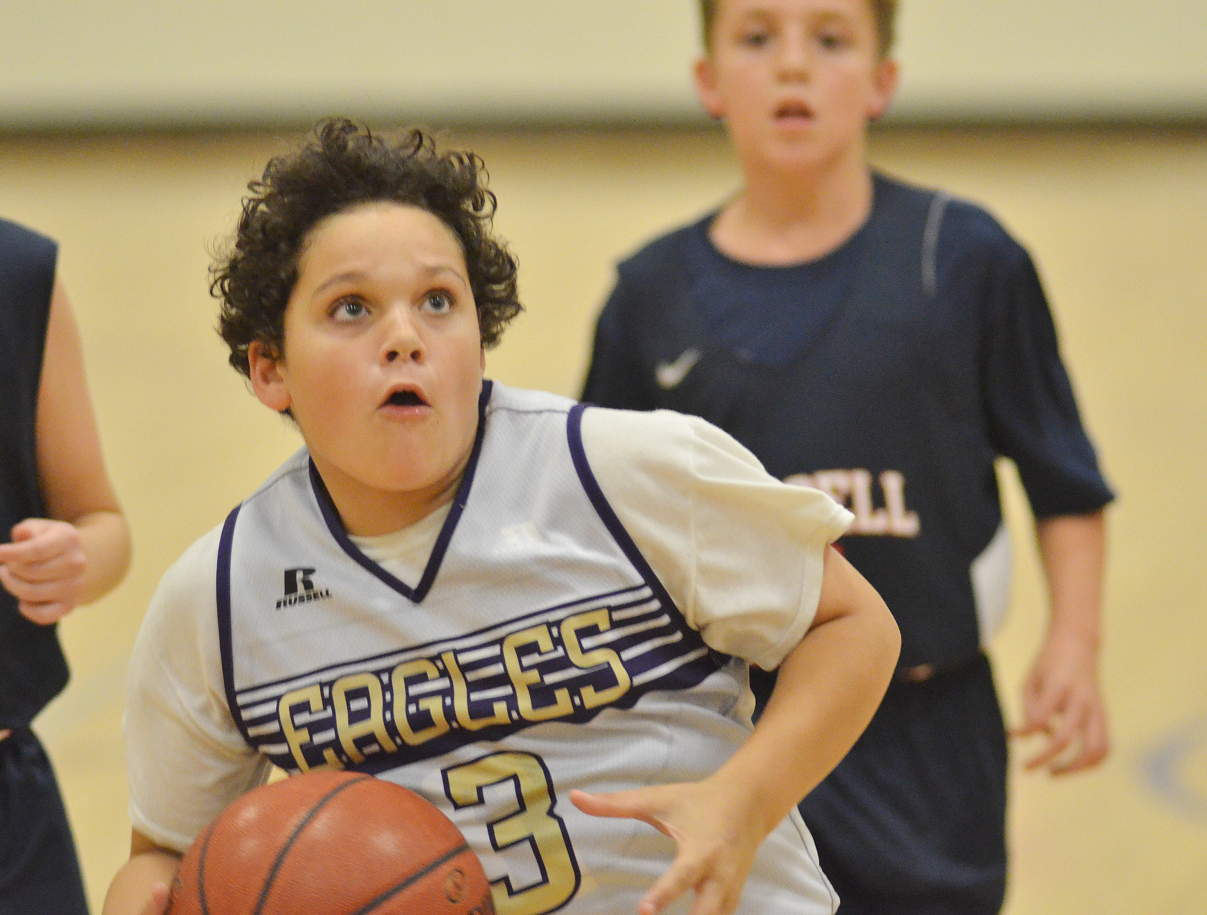 CMS seventh-grader Kaydon Taylor drives the ball.