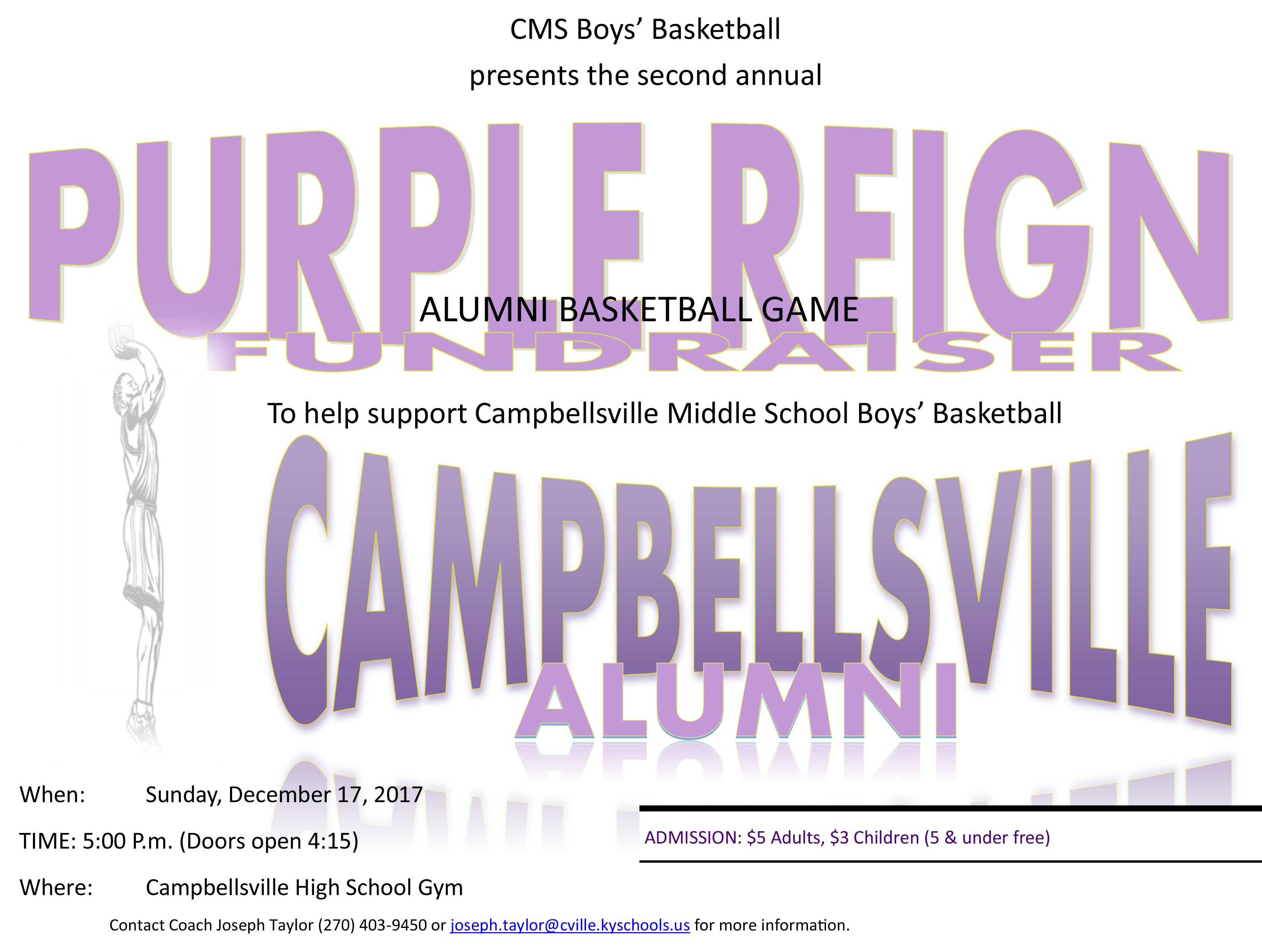 CMS boys' basketball team to host second alumni game