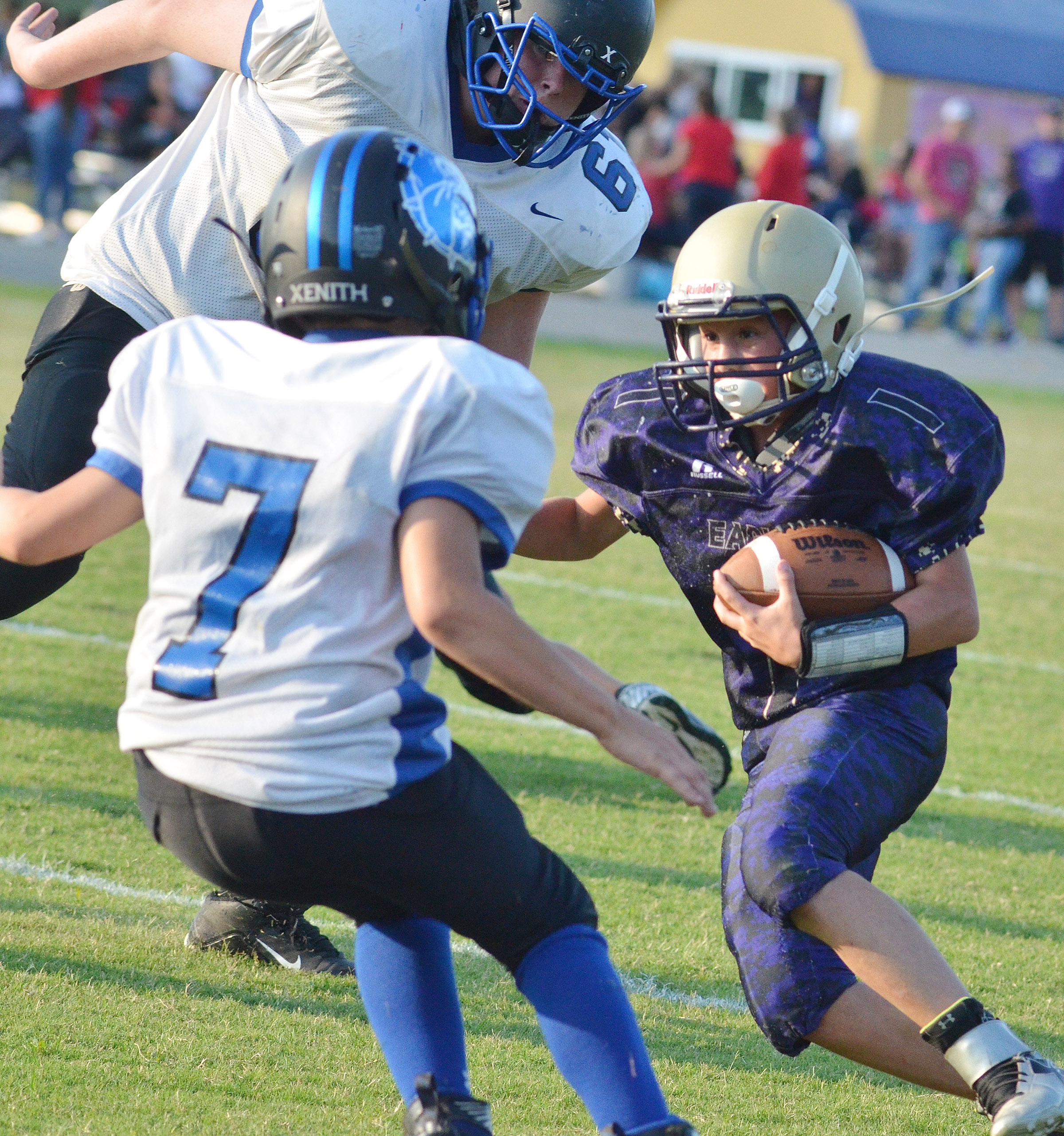 CMS eighth-grader Dakota Harris runs.
