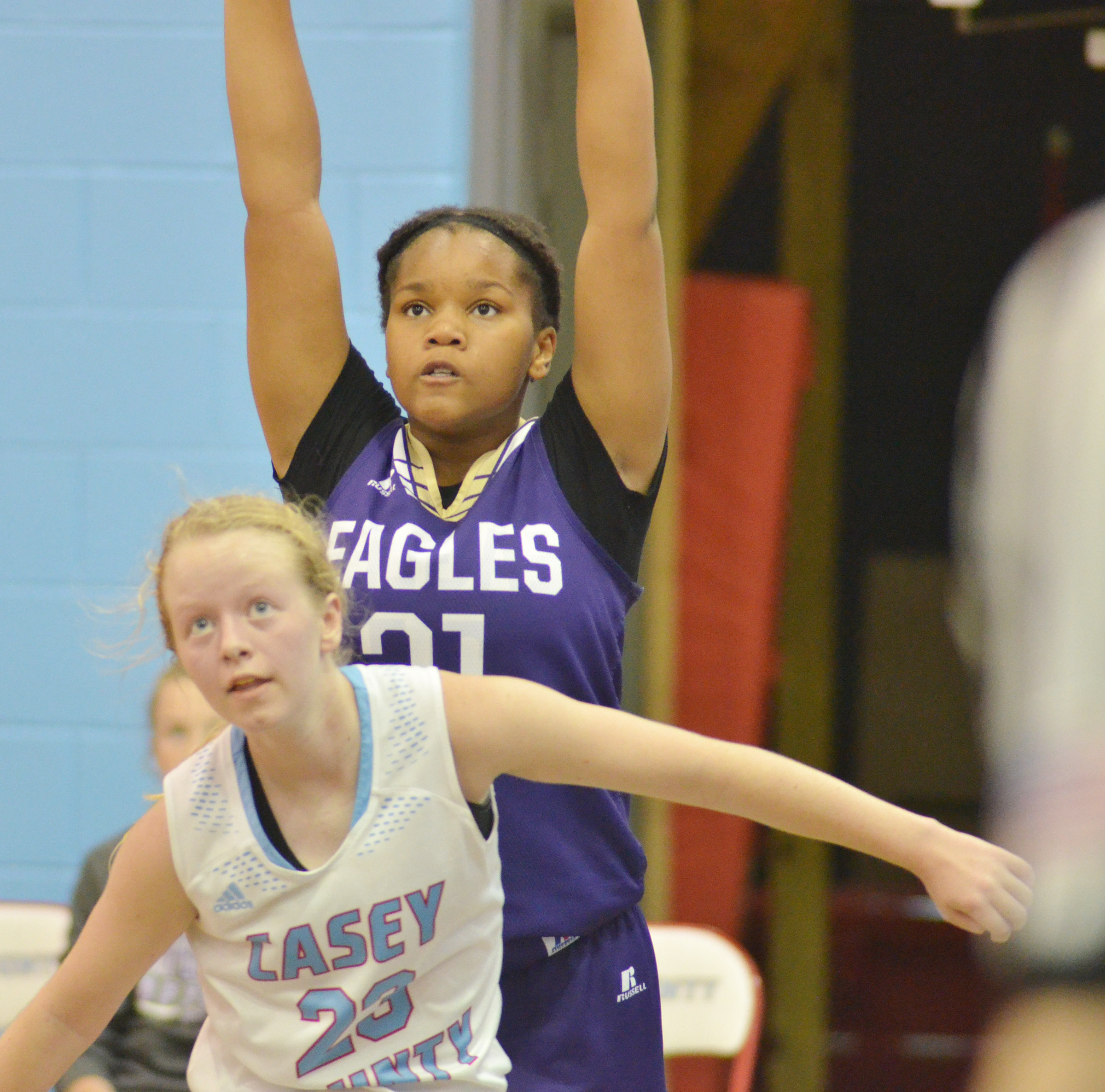 CMS seventh-grader Antaya Epps shoots.