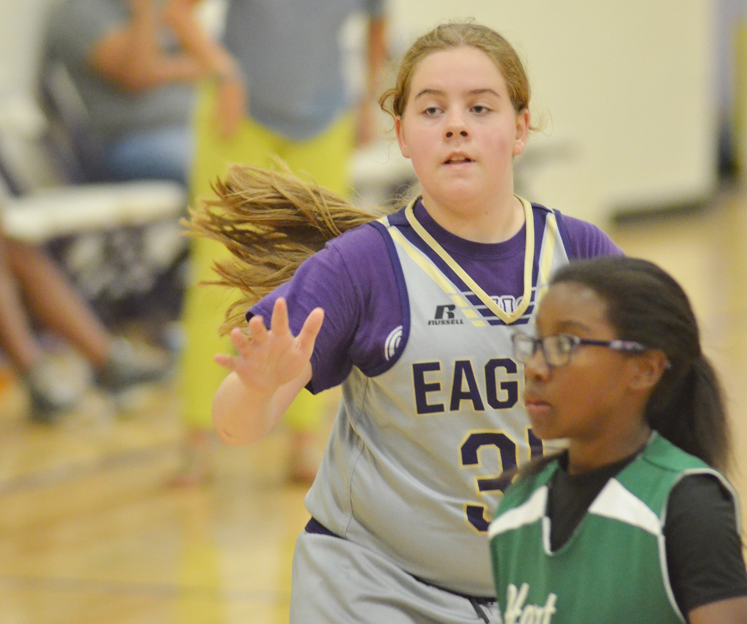 CMS sixth-grader Layla Steen plays defense.
