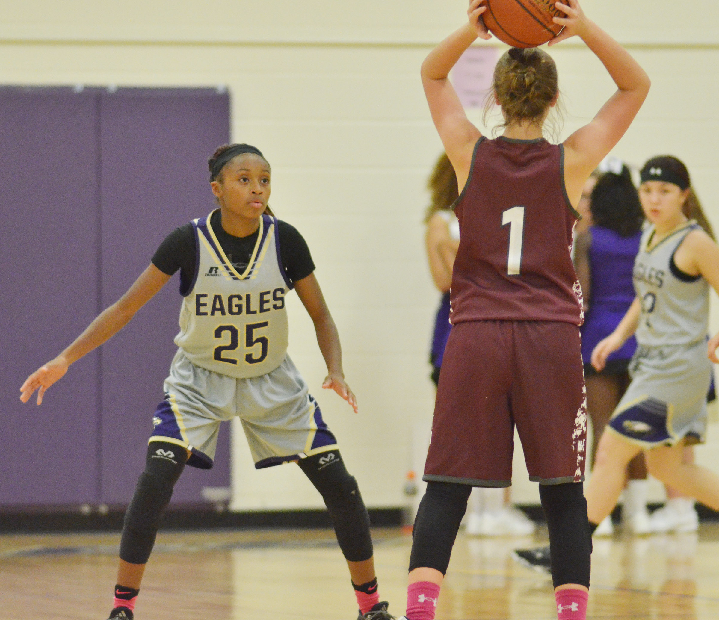 CMS eighth-grader Bri Gowdy watches the ball.