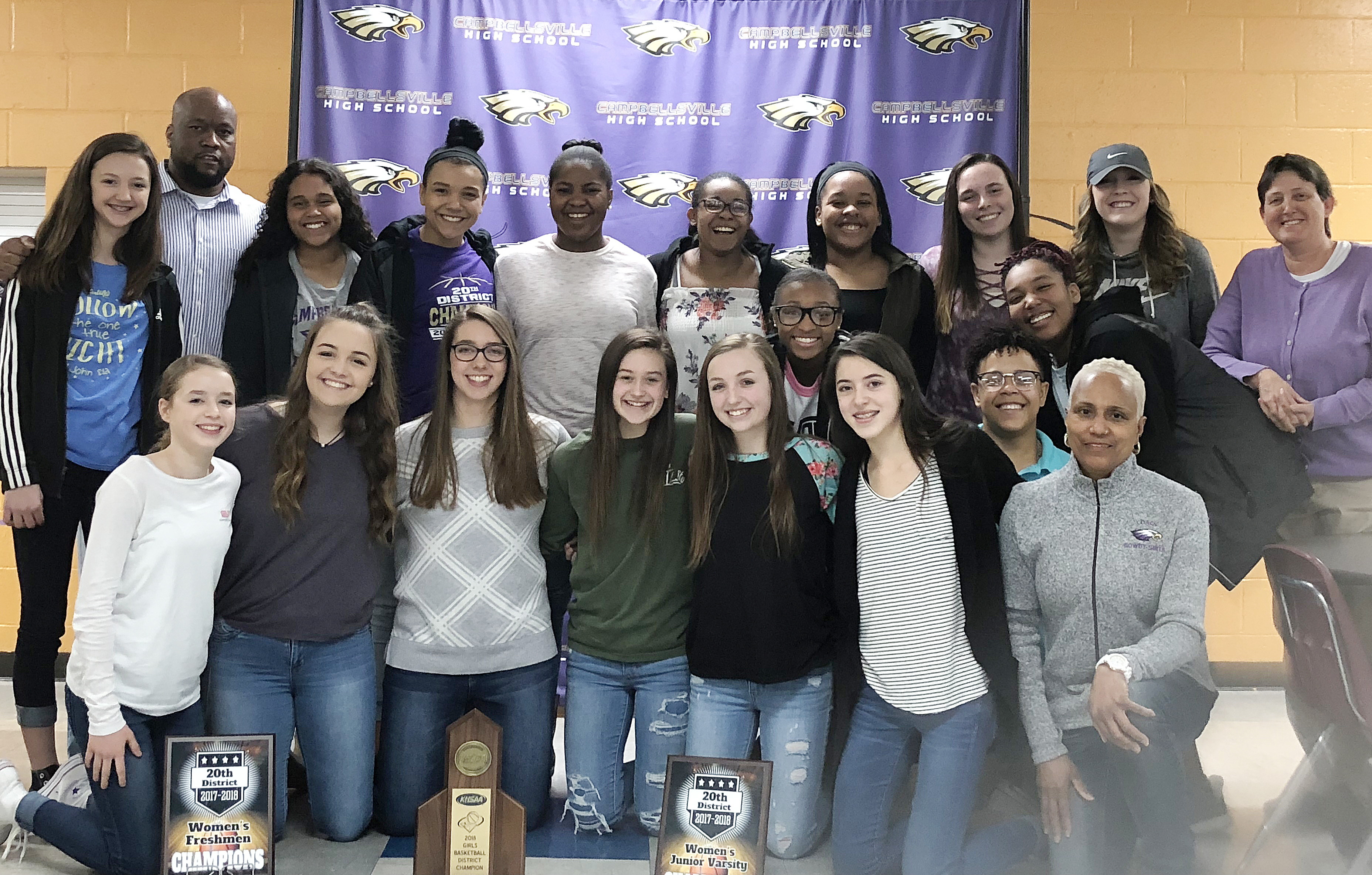 CHS girls' basketball players were recently honored for their dedication and hard work this historic season. From left, front, are eighth-grader Rylee Petett, freshmen Kenzi Forbis and Abi Wiedewitsch, sophomore Bailey Thompson, eighth-graders Lainey Watson, Bri Gowdy and Kaylyn Smith, juniors Dee Simpson and Malaya Hoskins and assistant coach Debbie Gowdy-Smith. Back, seventh-grader Bri Hayes, head coach Anthony Epps, sophomore Siera Owens, junior Kalisha Murphy, seniors Nena Barnett, Vonnea Smith and Kayla Young, sophomore Katelyn Miller, freshman Catlyn Clausen and assistant coach Katie Wilkerson. Absent from the photo are seventh-grader Antaya Epps, sophomore Isis Coleman and senior Kiyah Barnett.