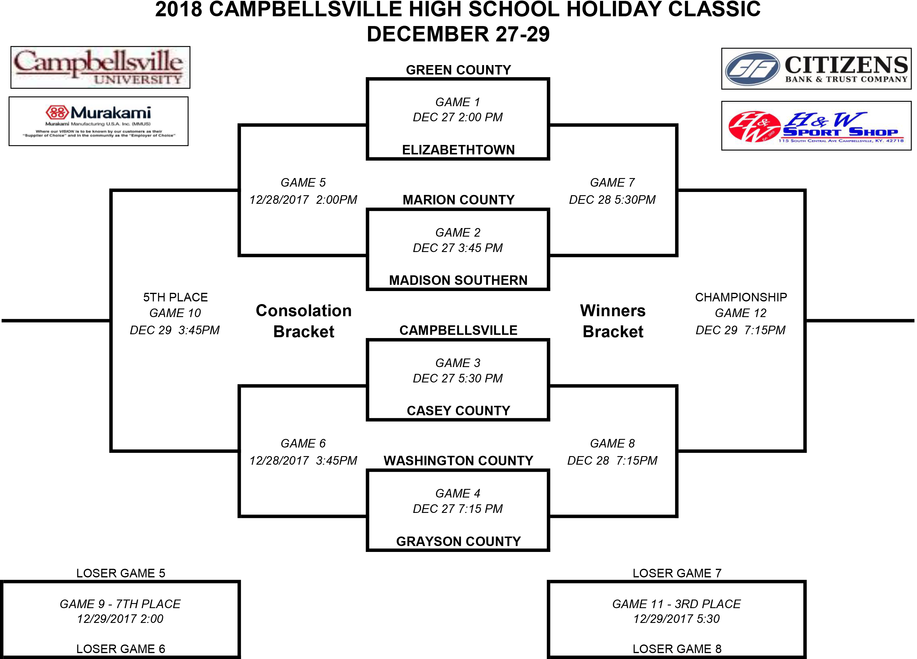 CHS BB Holiday Classic