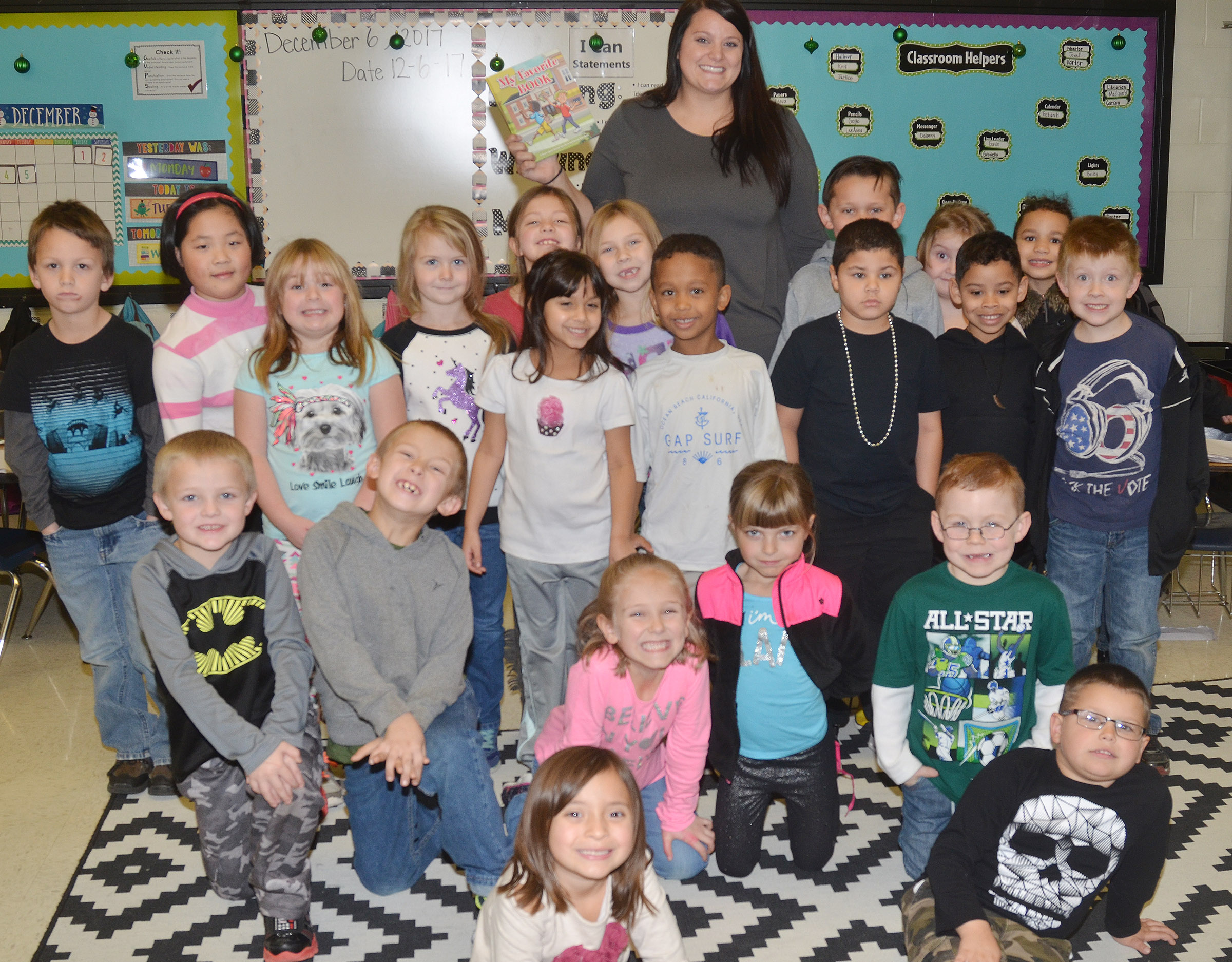 "Students in Miriah Cox's class recently received a copy of ""My Favorite Book,"" which tells a story encouraging students to always do their best and be their best."