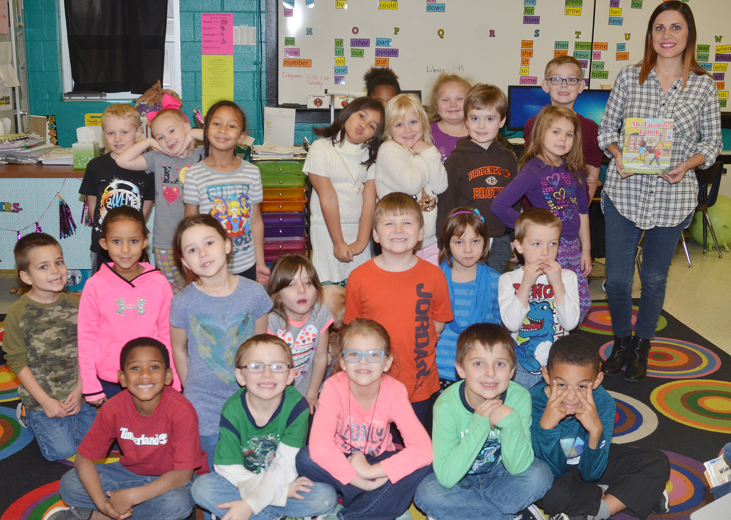 "Students in Luci Shofner's class recently received a copy of ""My Favorite Book,"" which tells a story encouraging students to always do their best and be their best."