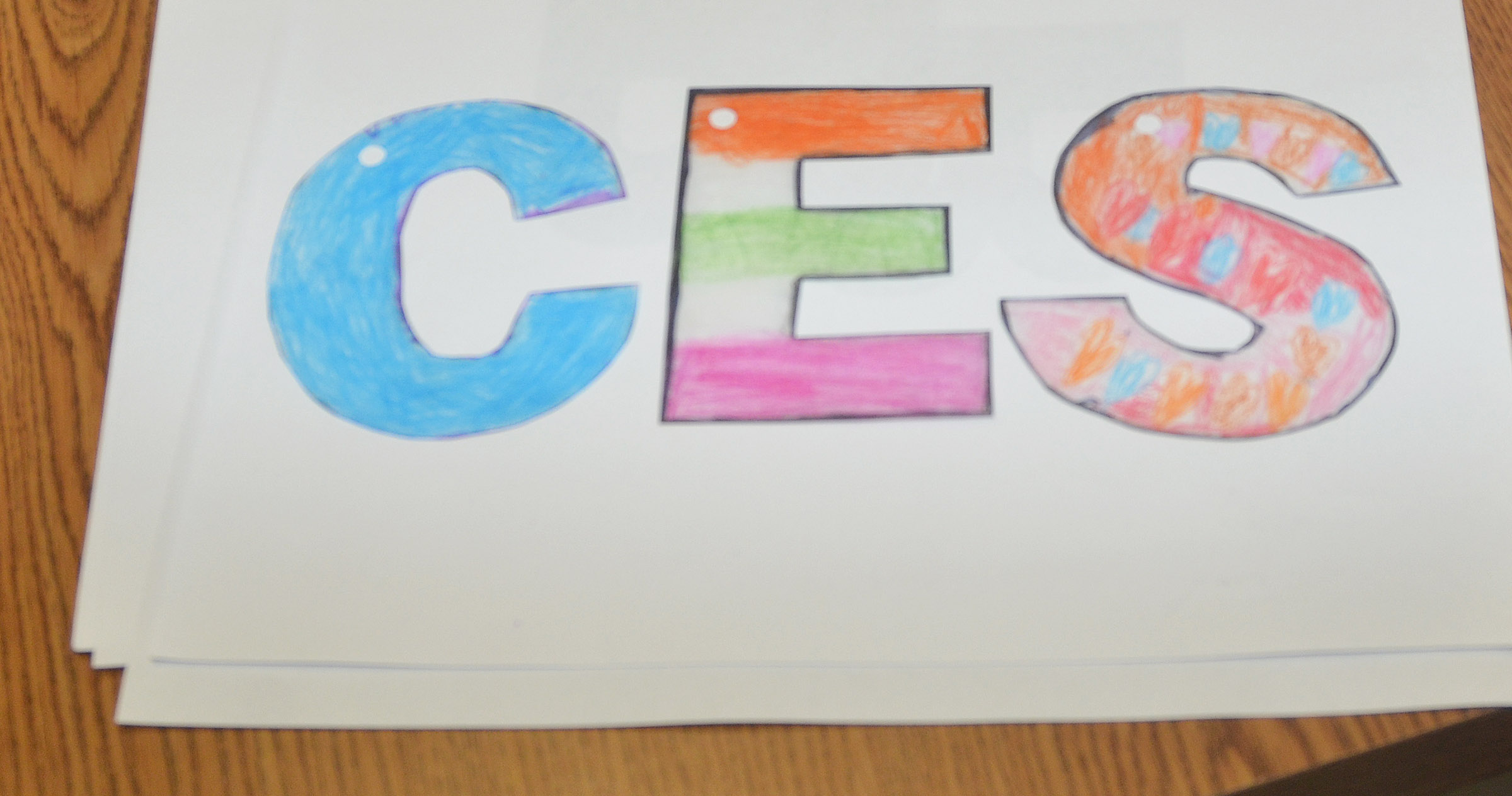 CES third-graders in Patty Haley's class decorated these letters, which will become keychains for their mothers.