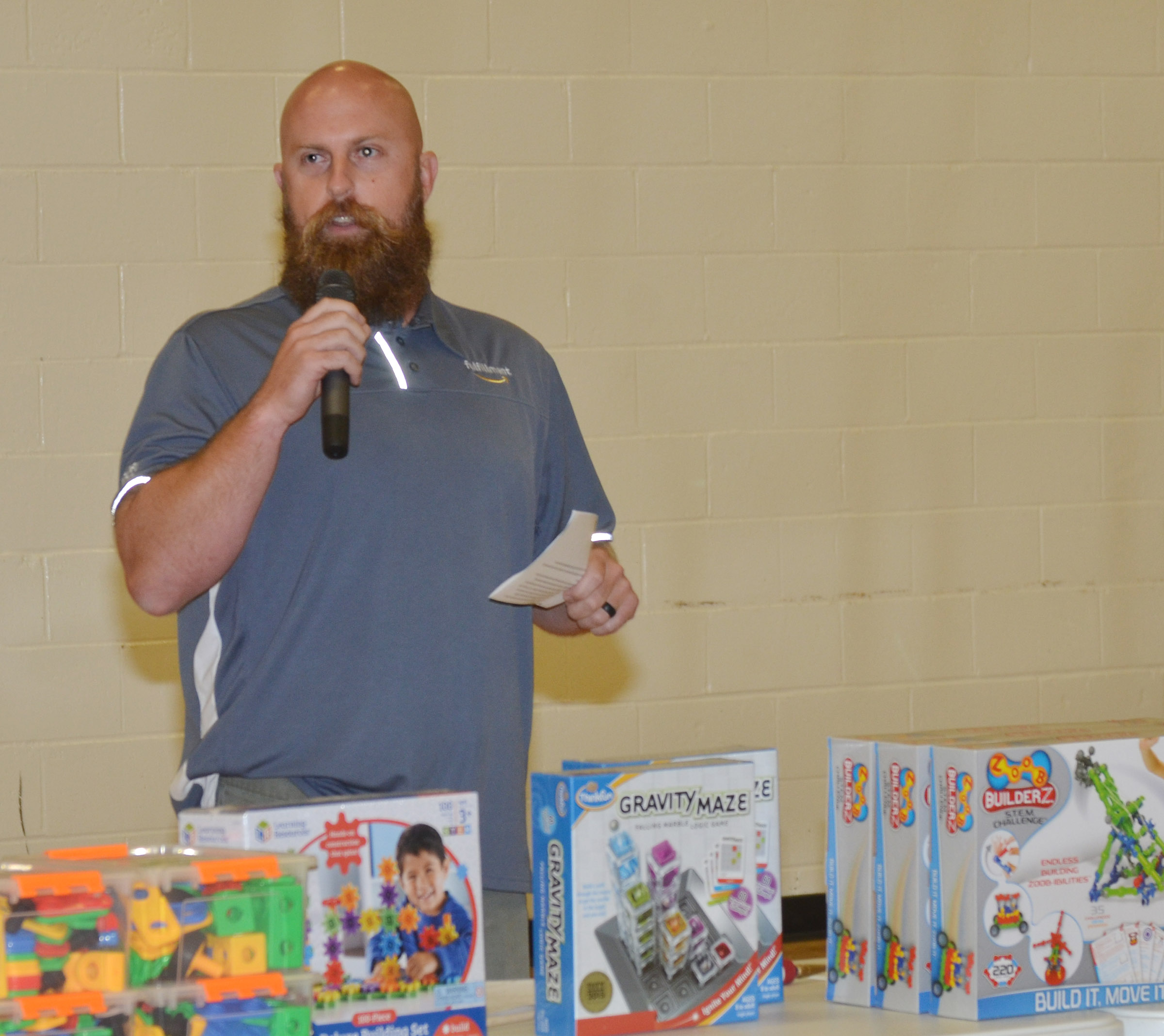 Chad Forsyth, an operations manager at Amazon, talks to CES students about the importance of science, technology, engineering and math.