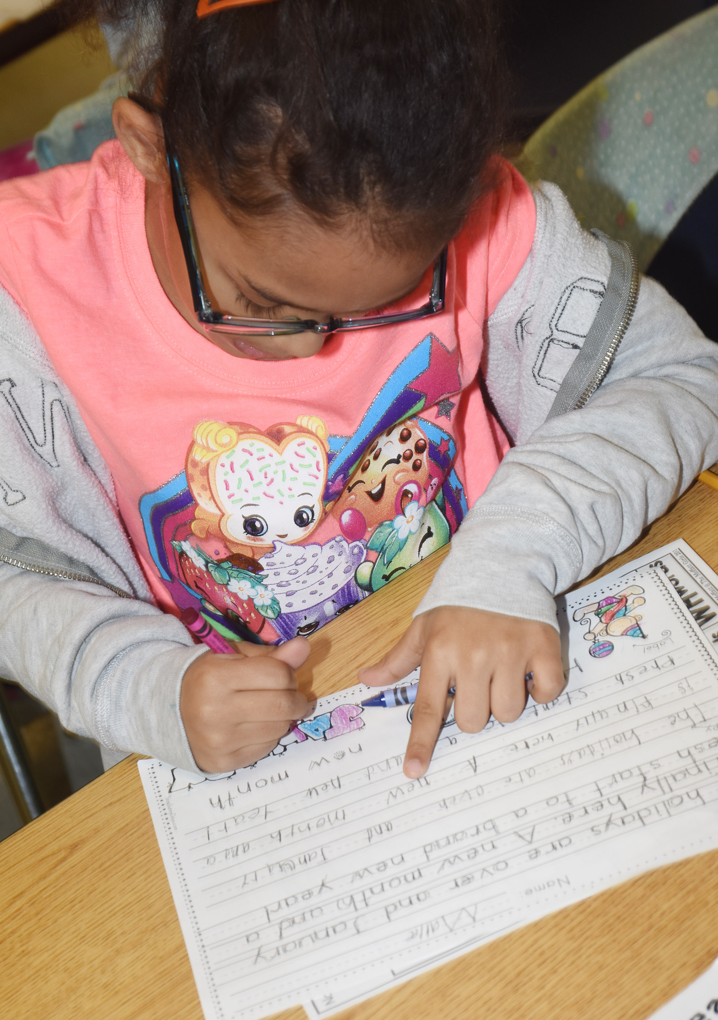 CES first-grader Marlee Dickens writes about the new year.