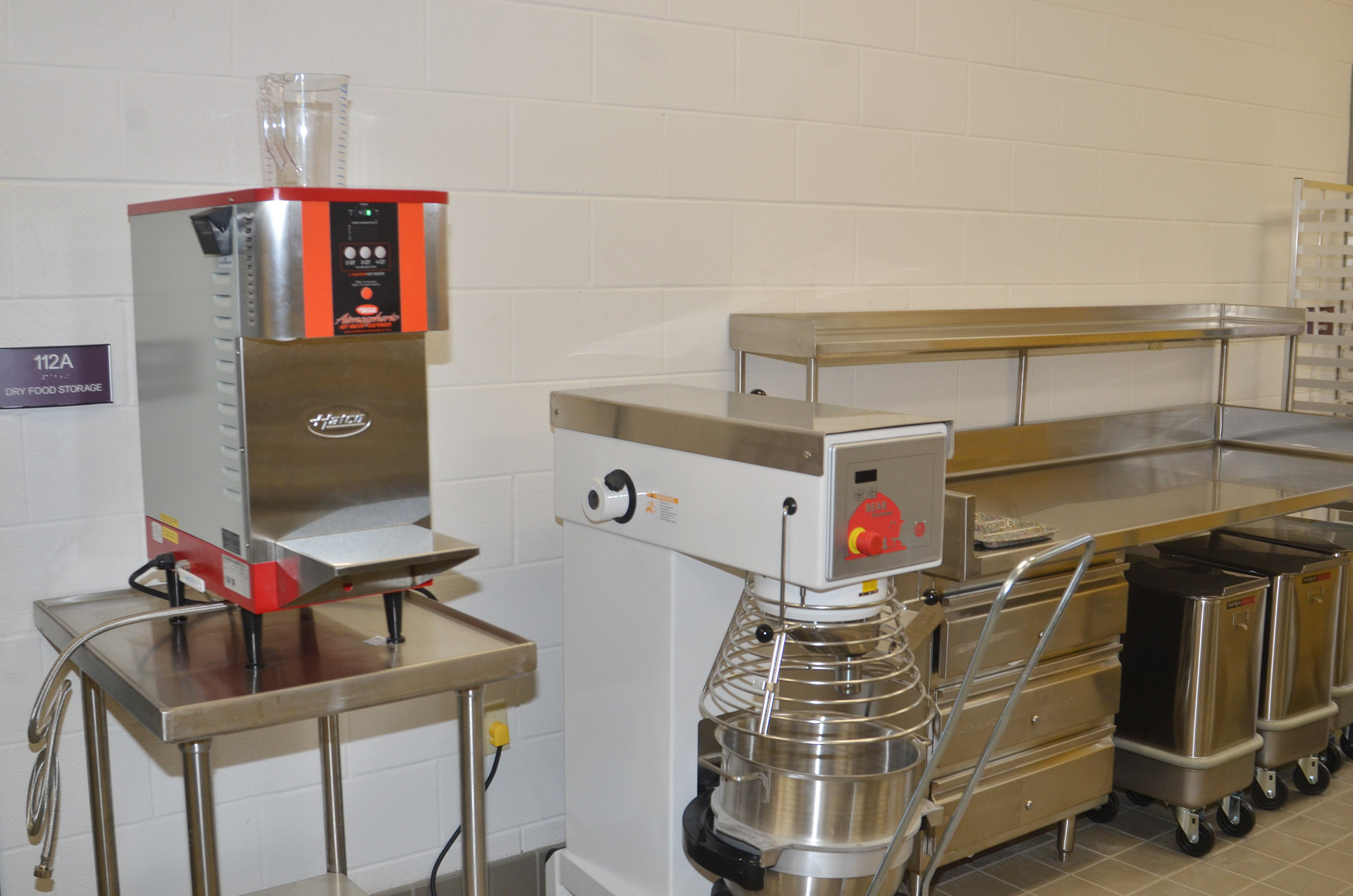 New equipment has been installed in the CES kitchen.