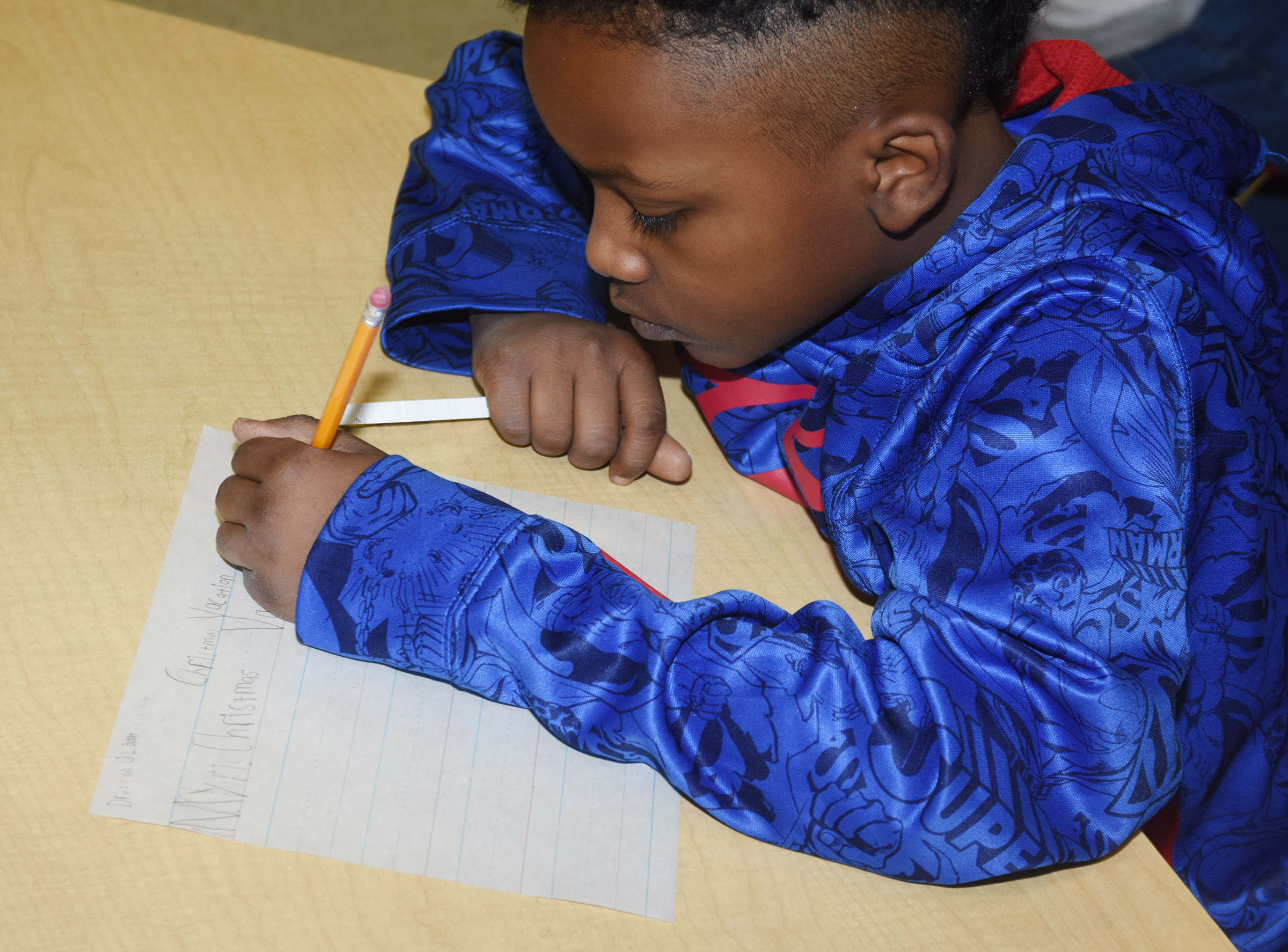 CES second-grader Drelynn Hollins writes about his Christmas vacation.