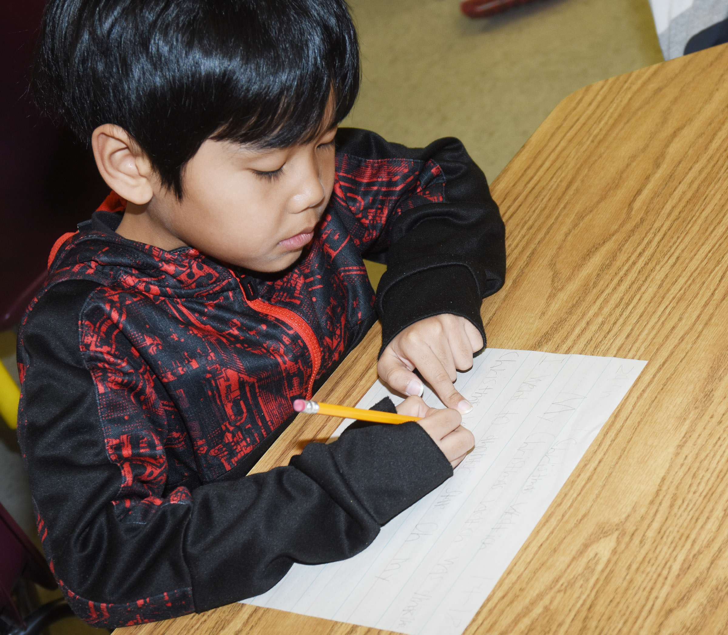 CES second-grader Zach Hak writes about his Christmas vacation.