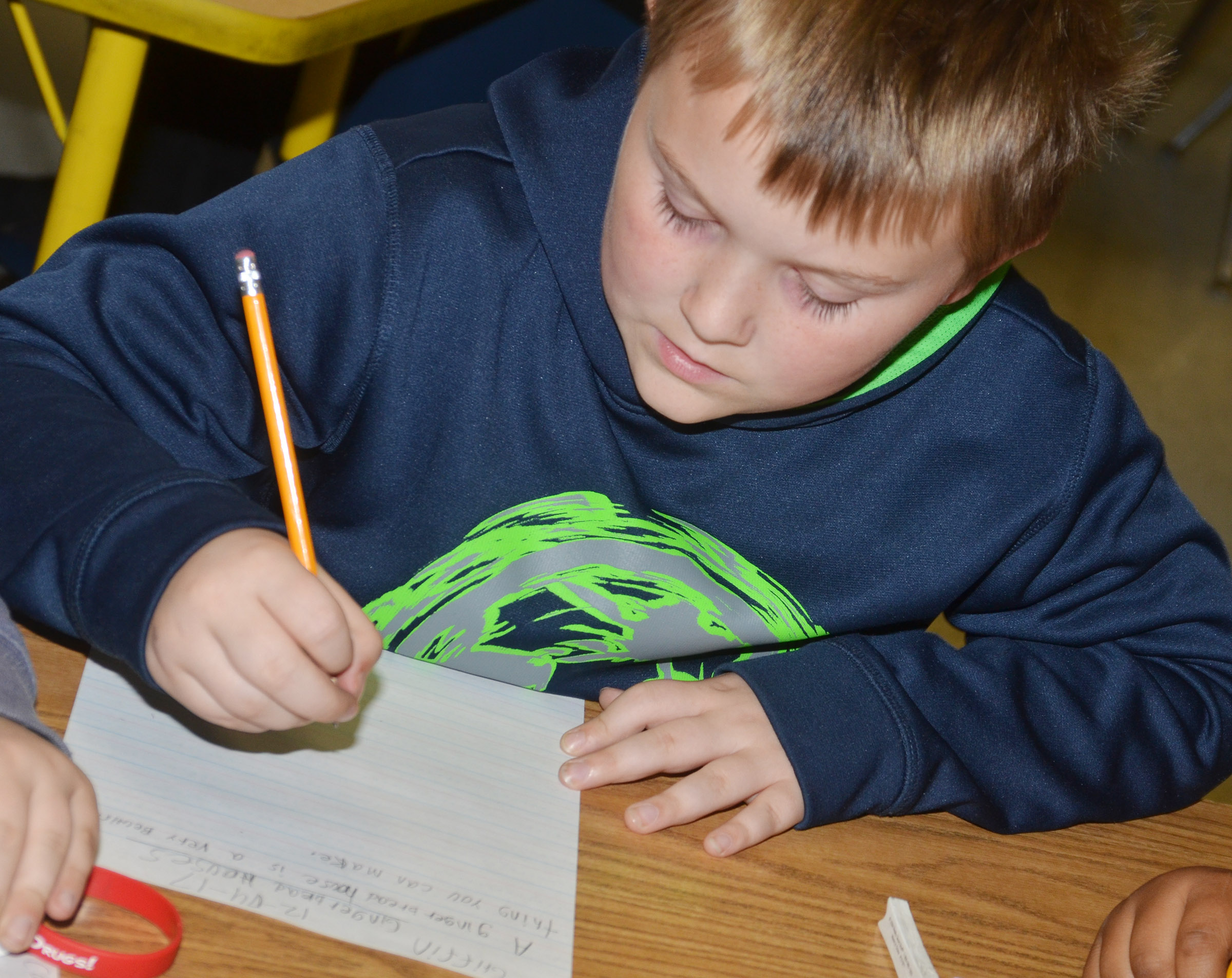 CES third-grader Griffin Skaggs writes about gingerbread houses.