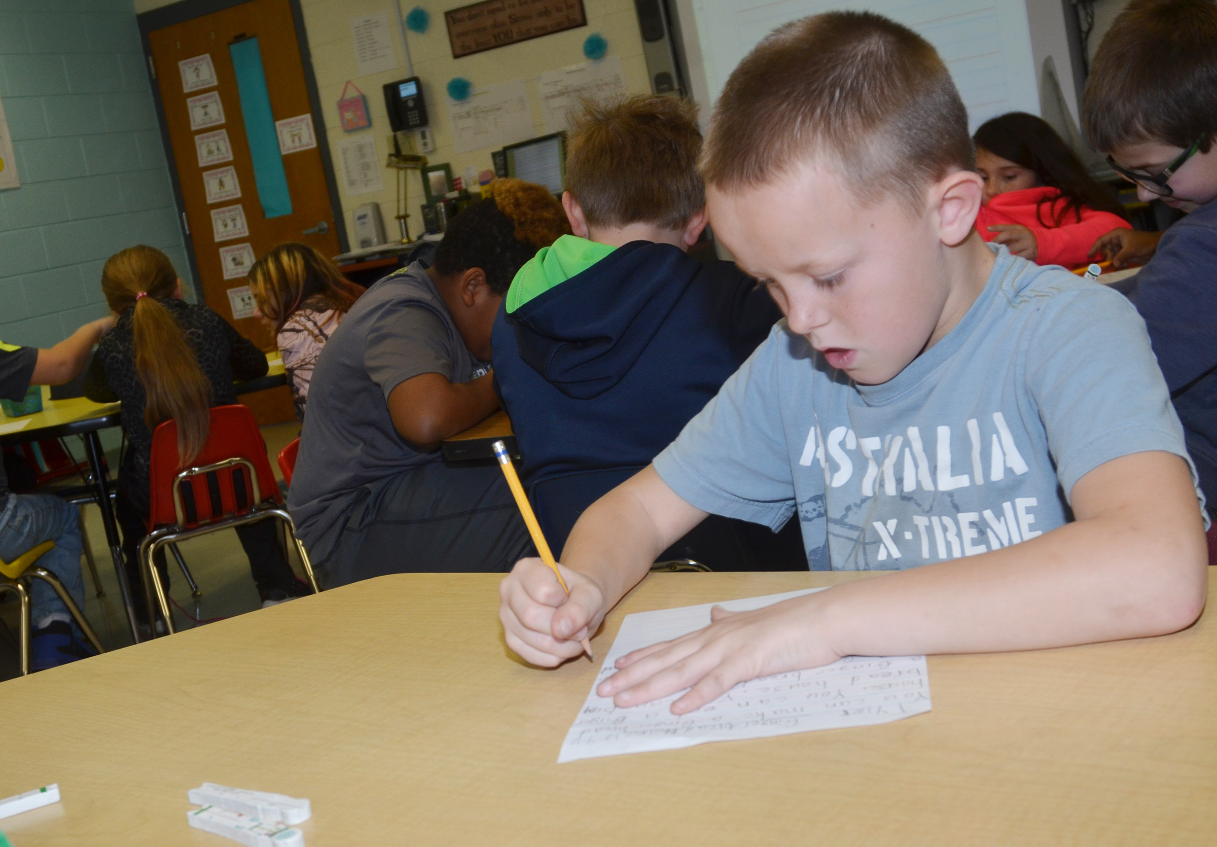 CES third-grader Tyler Brown writes about gingerbread houses.