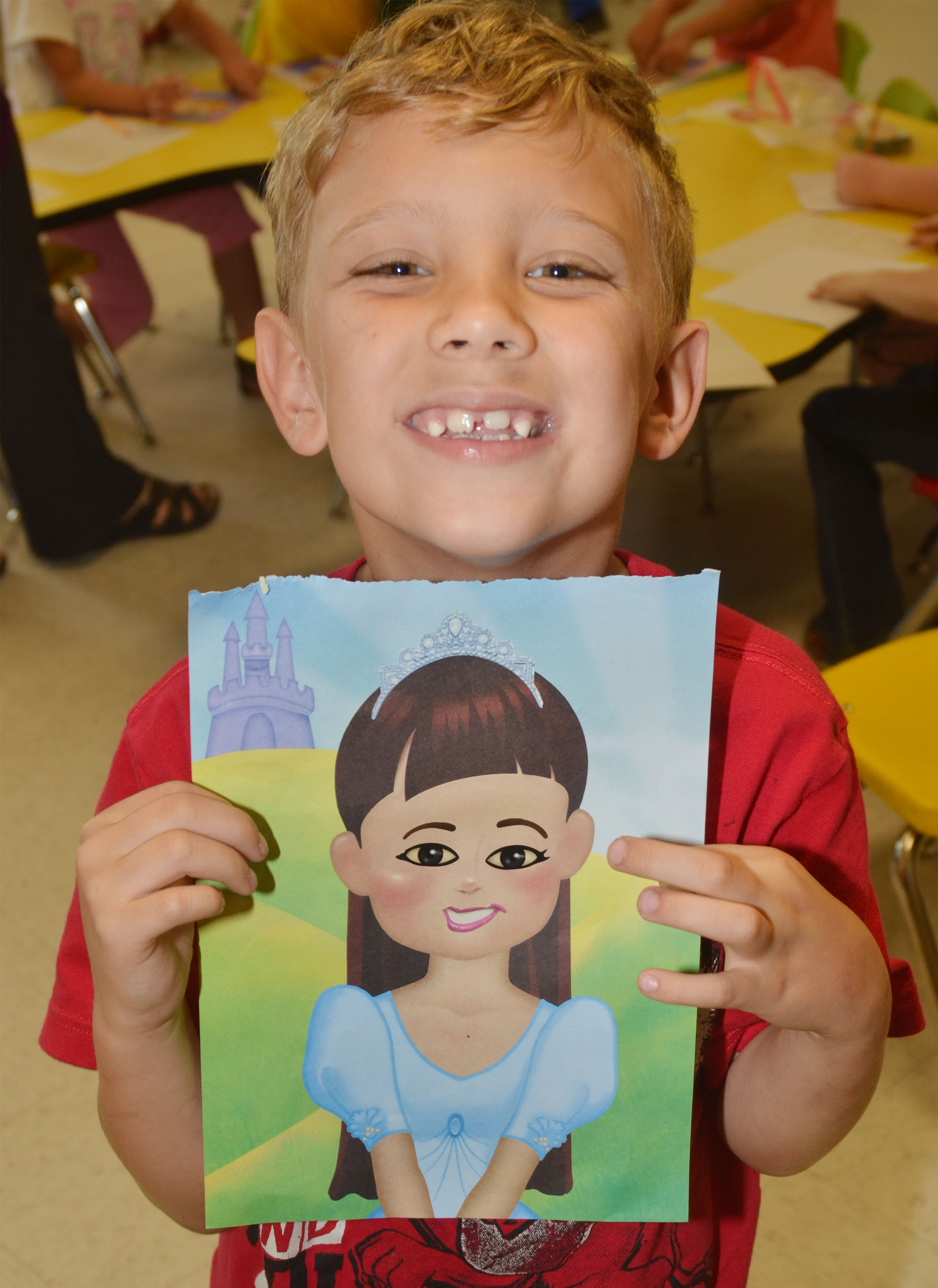 CES first-grader Gabe Prior made this picture of his mother.
