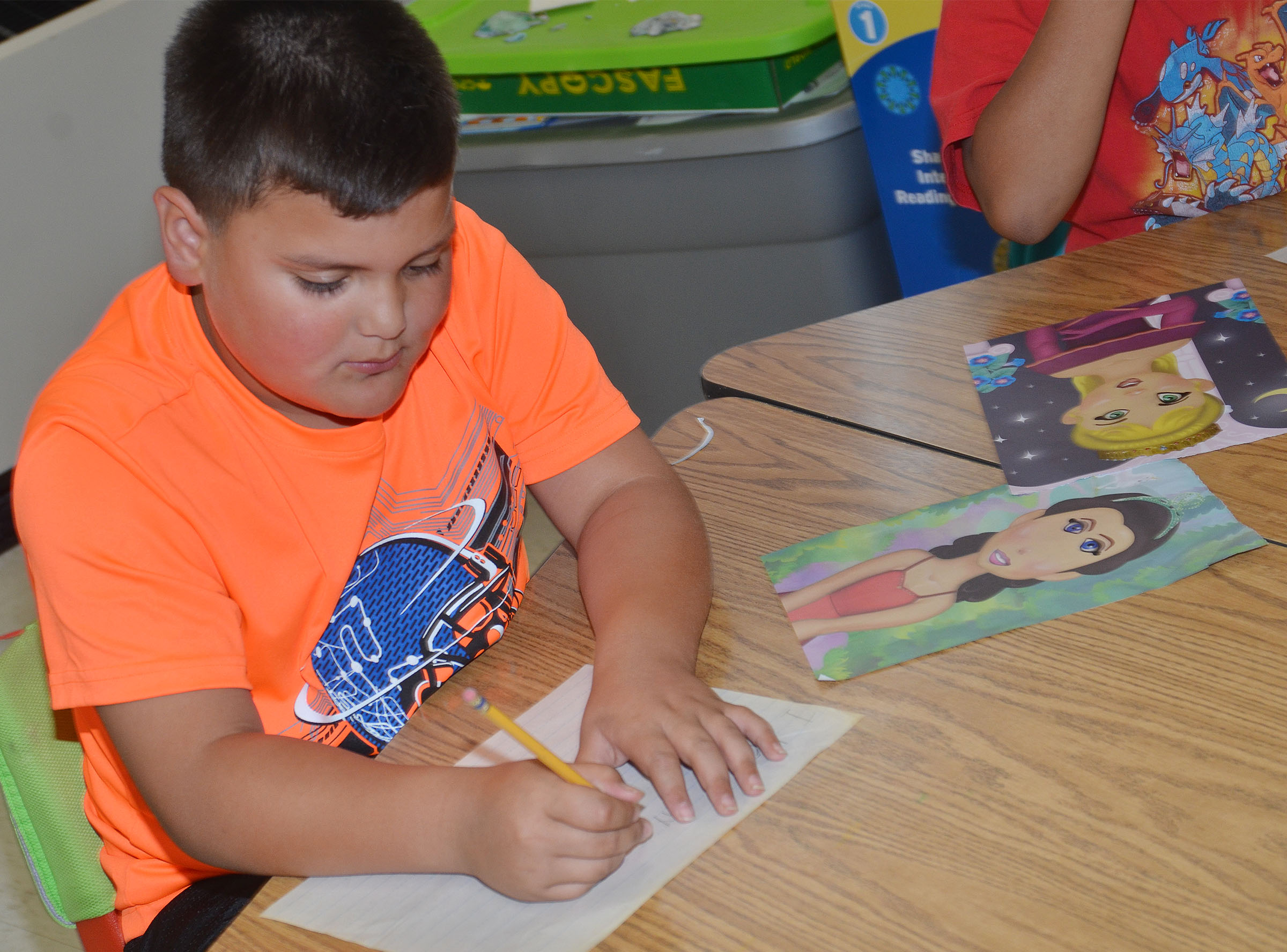 CES first-grader Eric Mixtega writes about his mother.