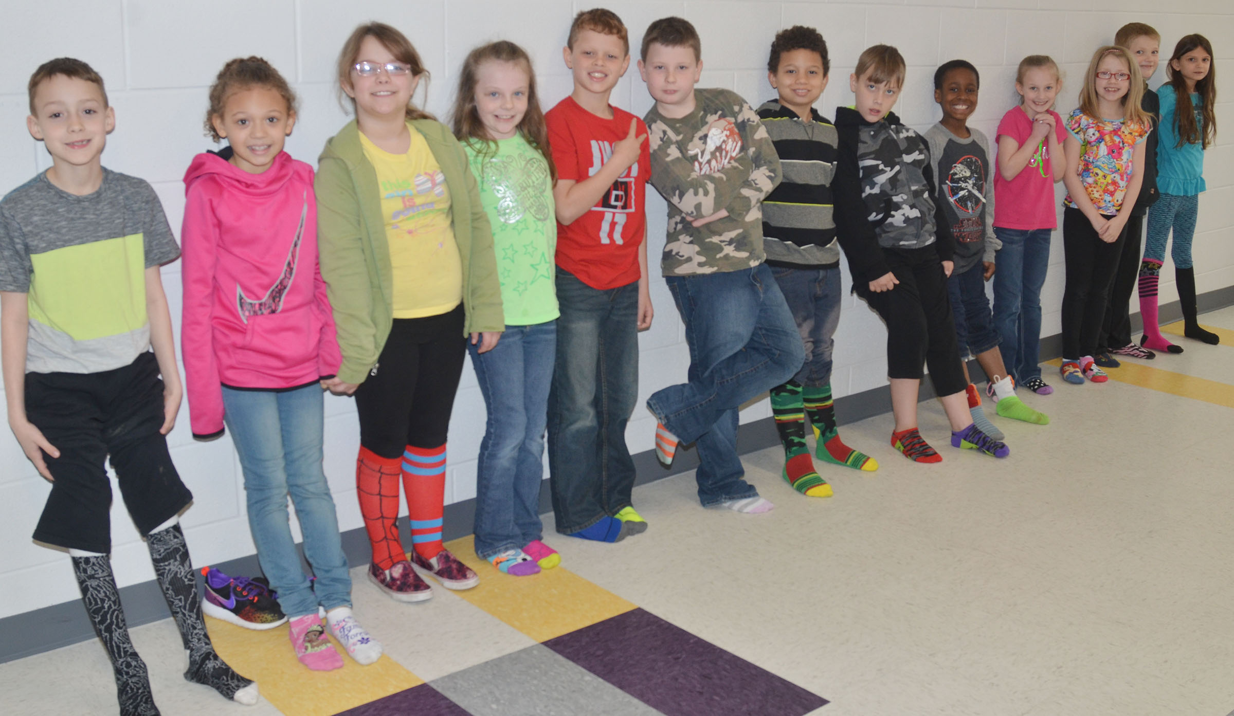 CES students dress for Silly Sock Day.