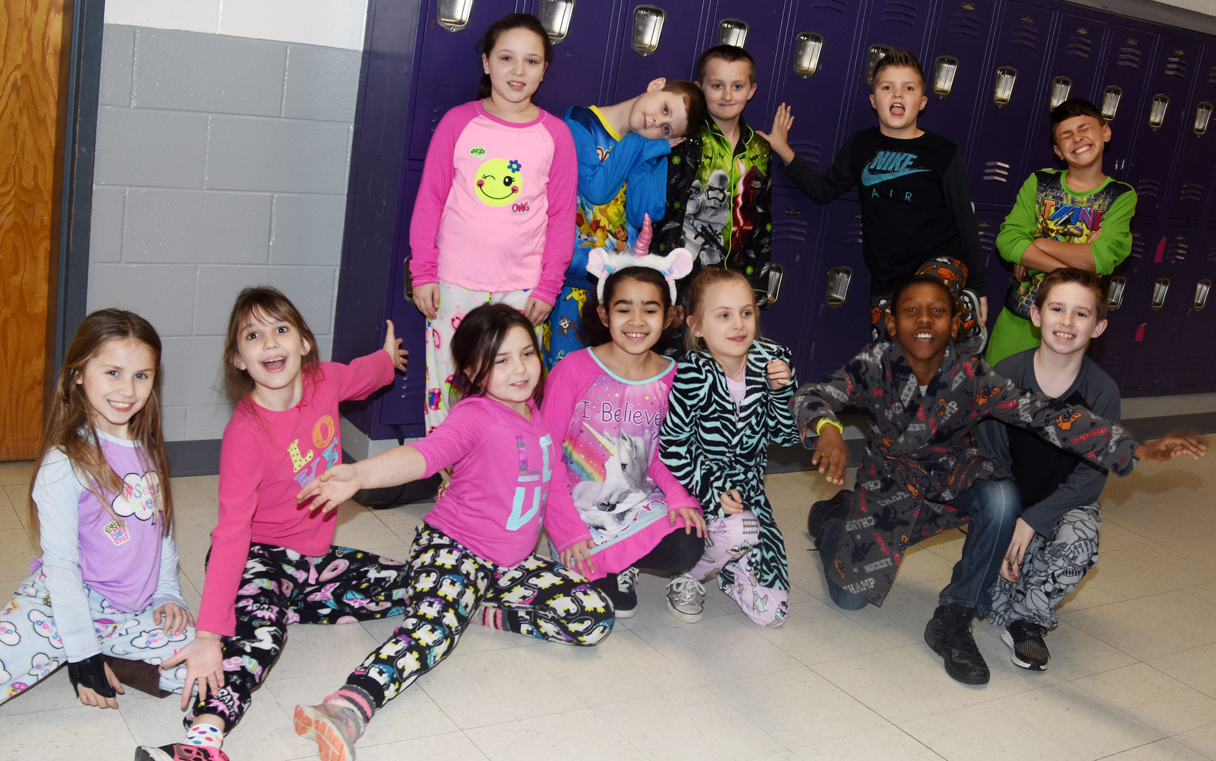 CES students dress in their favorite pajamas on The Sleep Book Day.