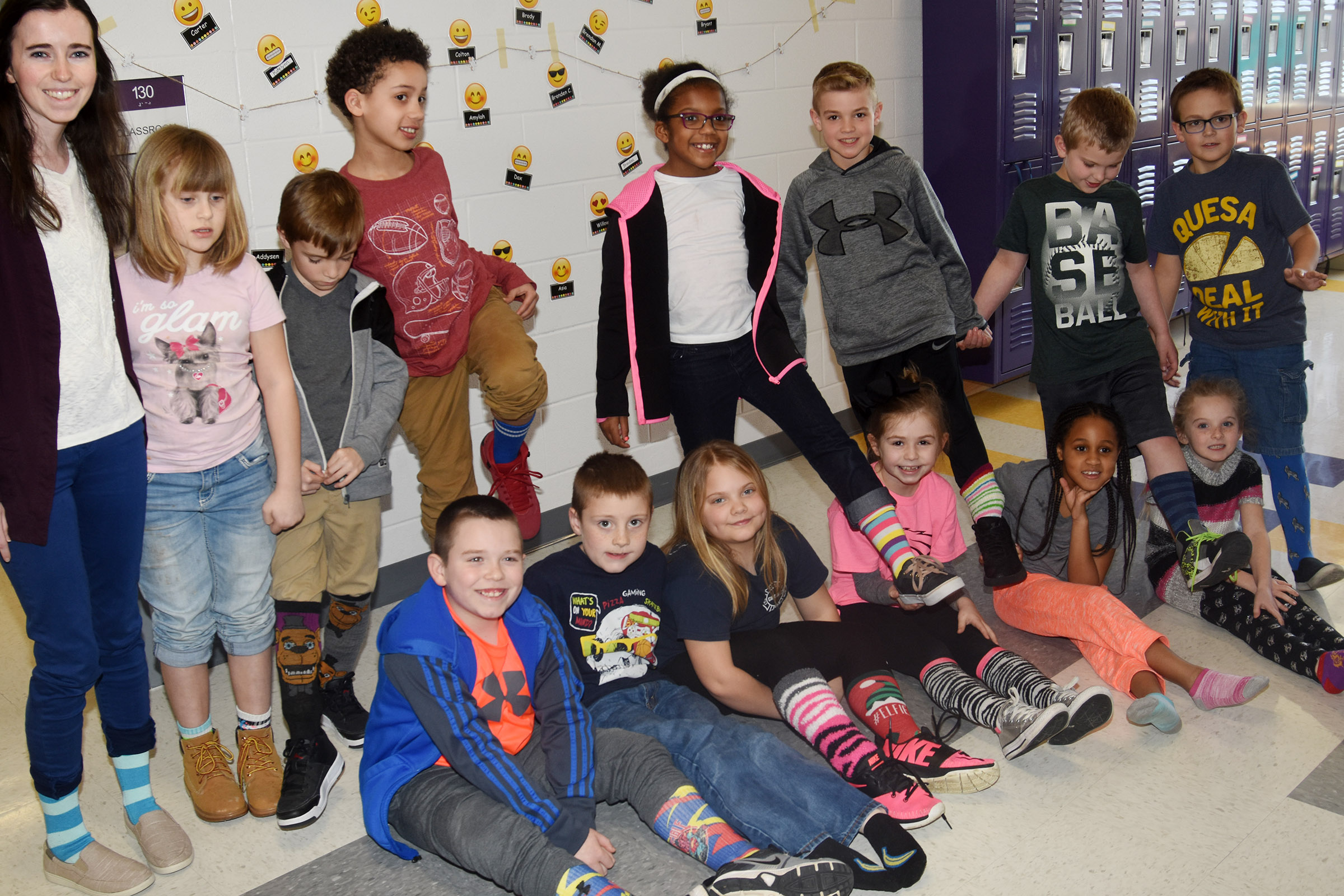 CES students and teachers dress for Fox in Socks Day.