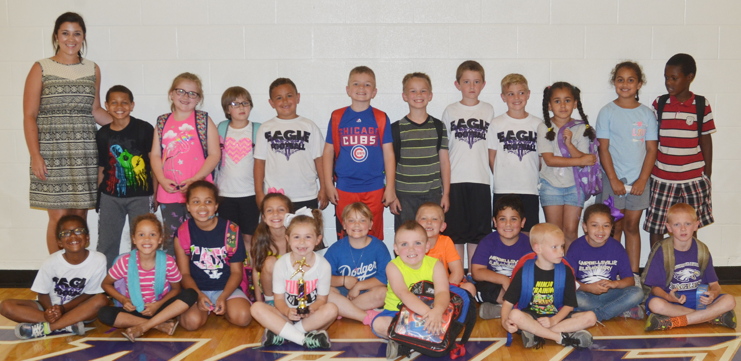 CES first-grade teacher Hailey Ogle's class won the competition for their grade level.