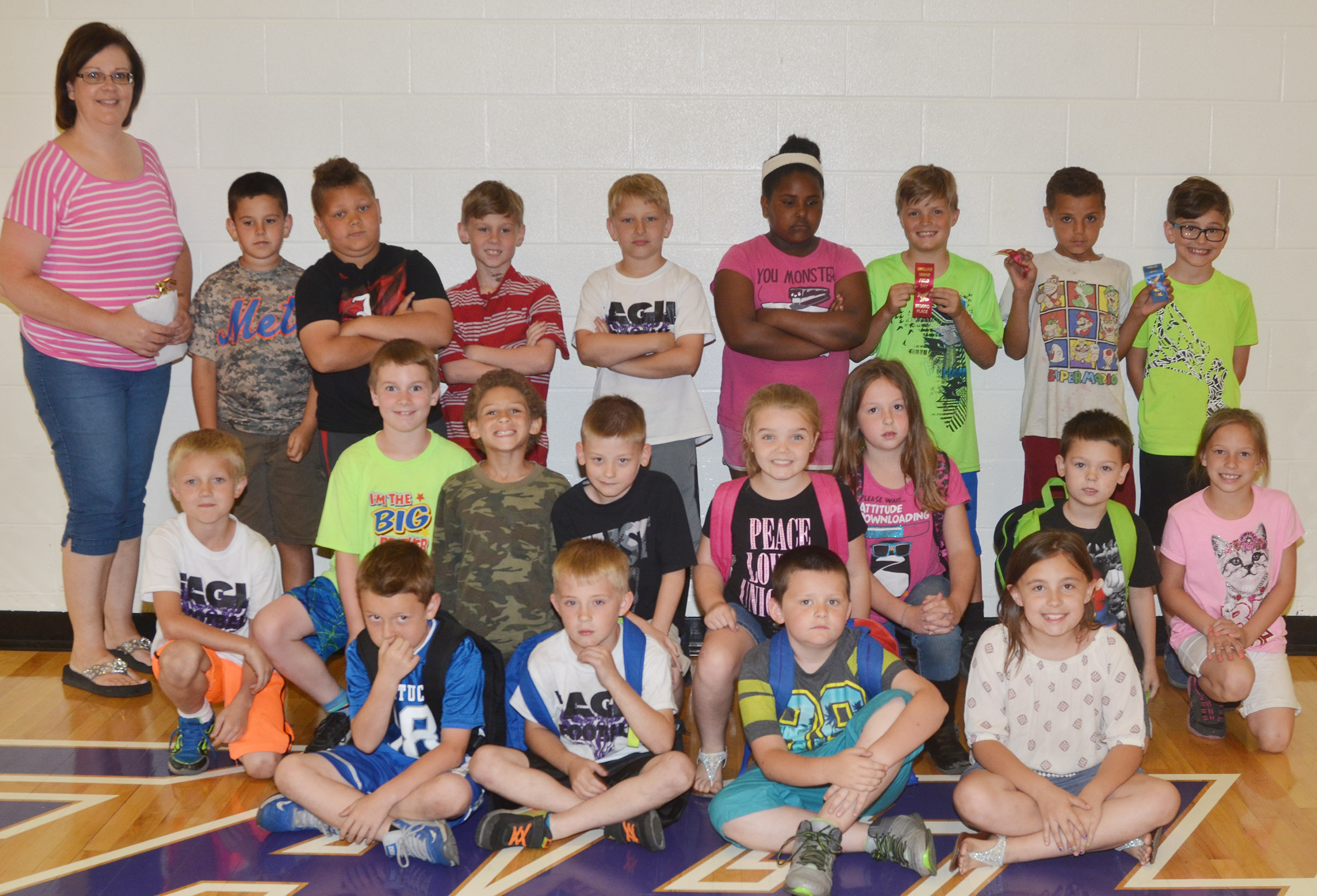 CES second-grade teacher Tonya Hagan's class won the competition for their grade level.