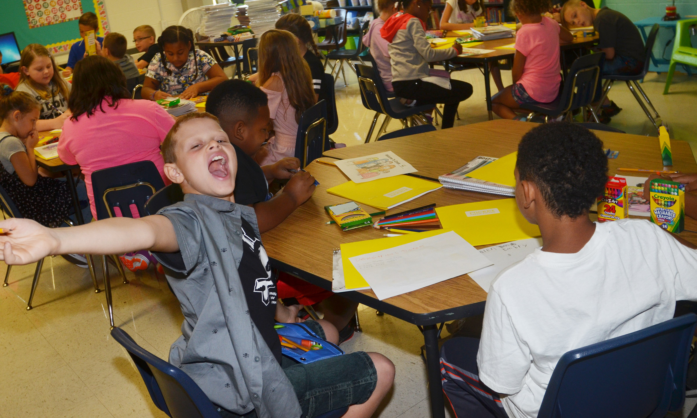 Demetrious Dickens is excited about his first day of fourth grade at CES.