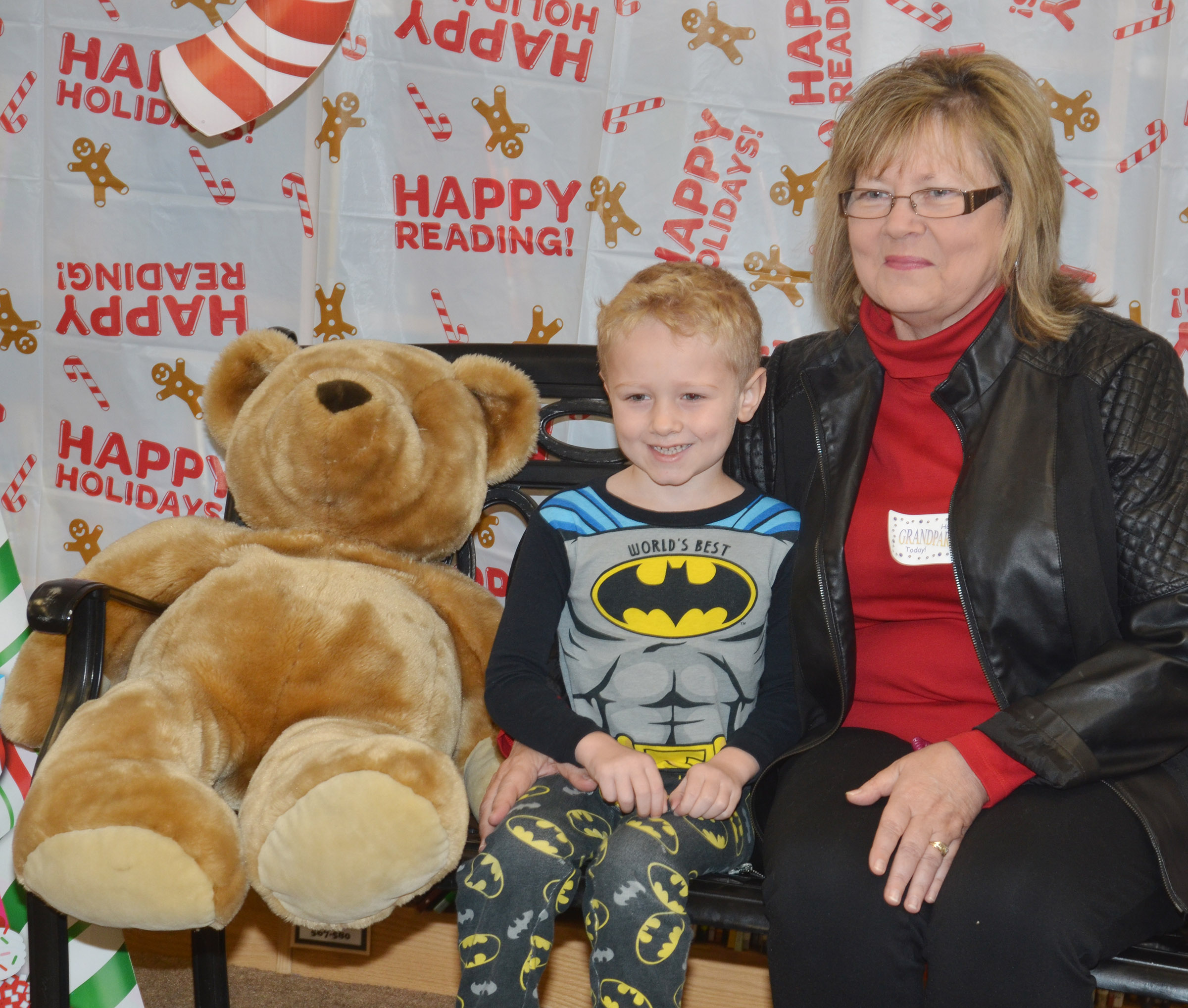 CES kindergartener Jackson Wright poses for a photo with his grandmother, Arlene Wright.