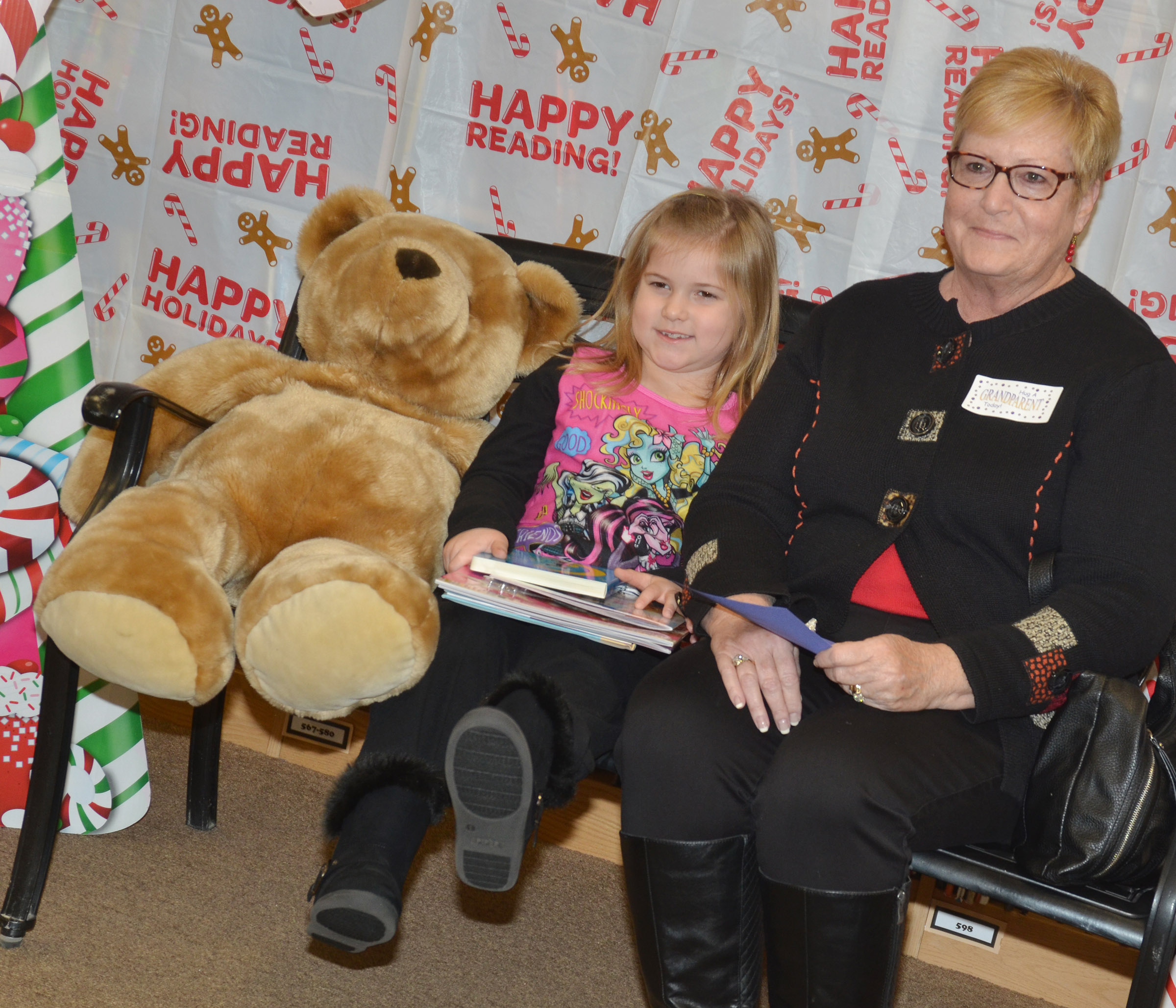 CES kindergartener Aubreigh Knifley poses for a photo with her grandmother, Delaine Knifley.