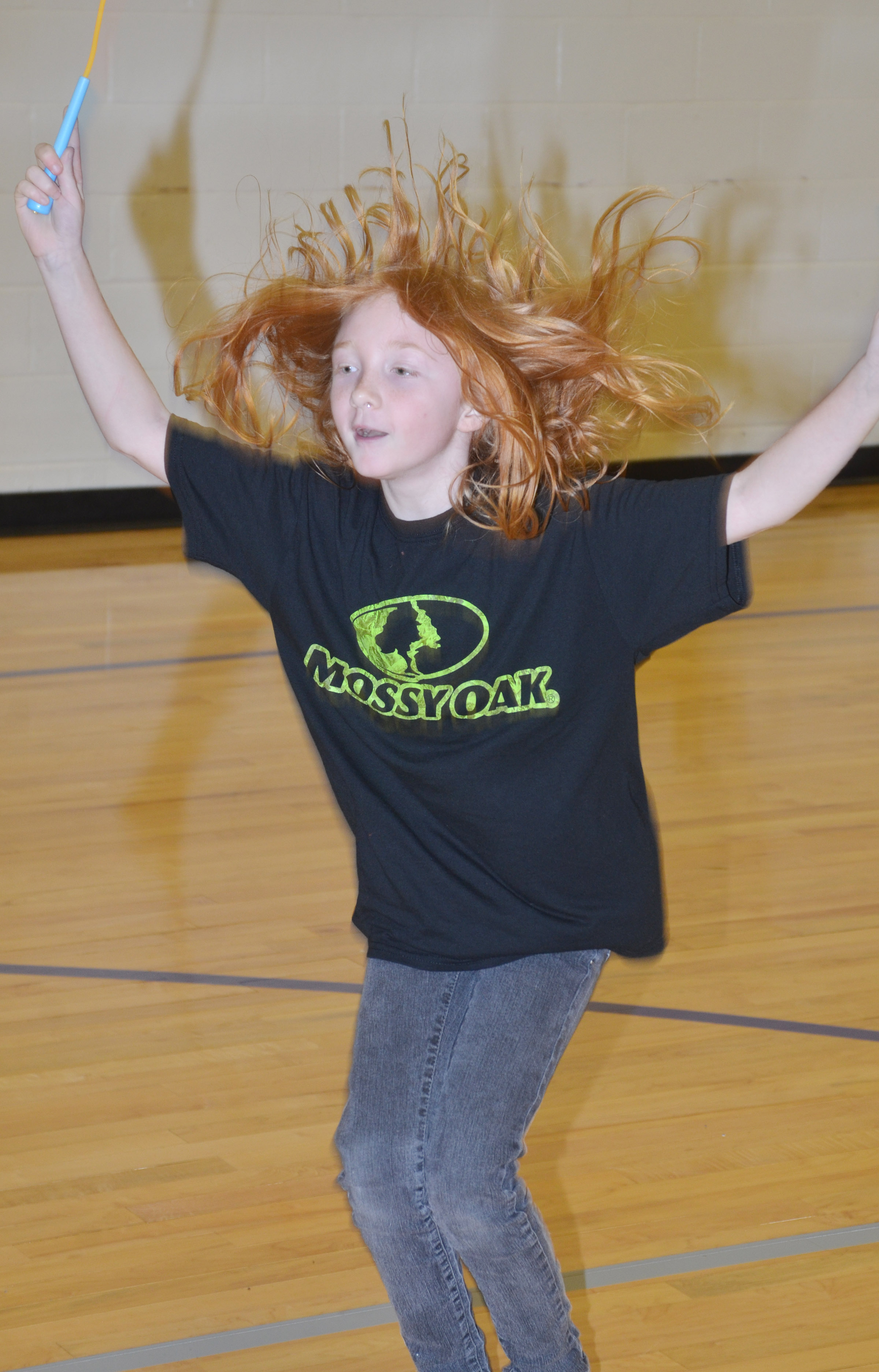 CES third-grader Savannah Wethington jumps rope.