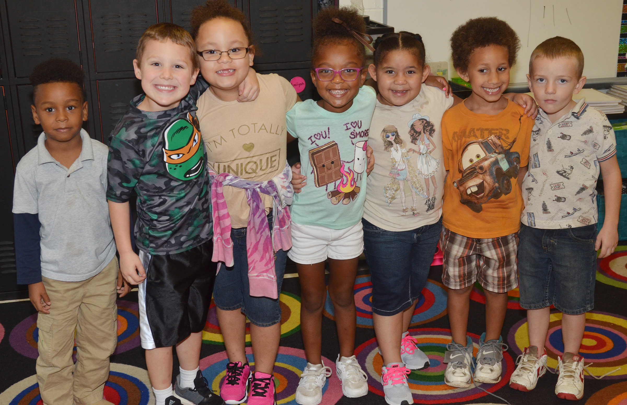 CES kindergarteners in Nikki Price's class wear brown for Color Week.