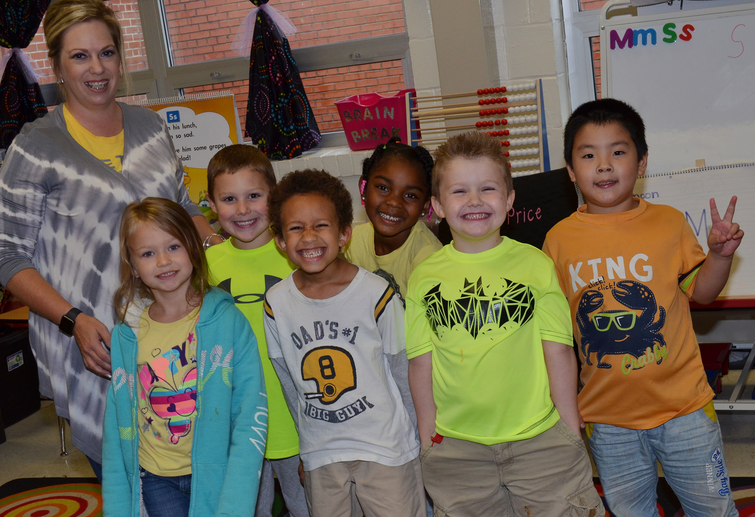 CES kindergarteners in Nikki Price's class wear yellow for Color Week.