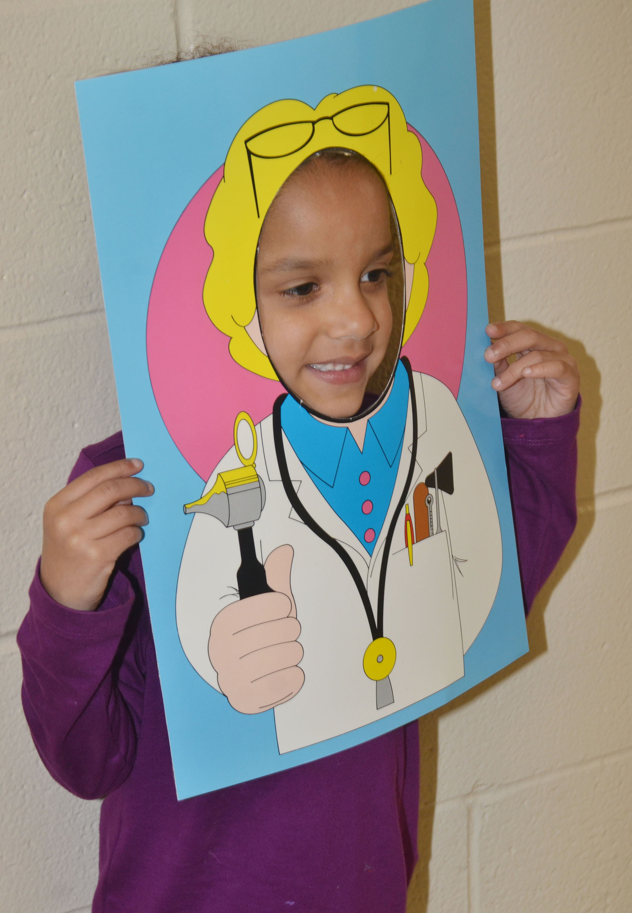 CES kindergartener Kylei Thompson says she wants to be a doctor.