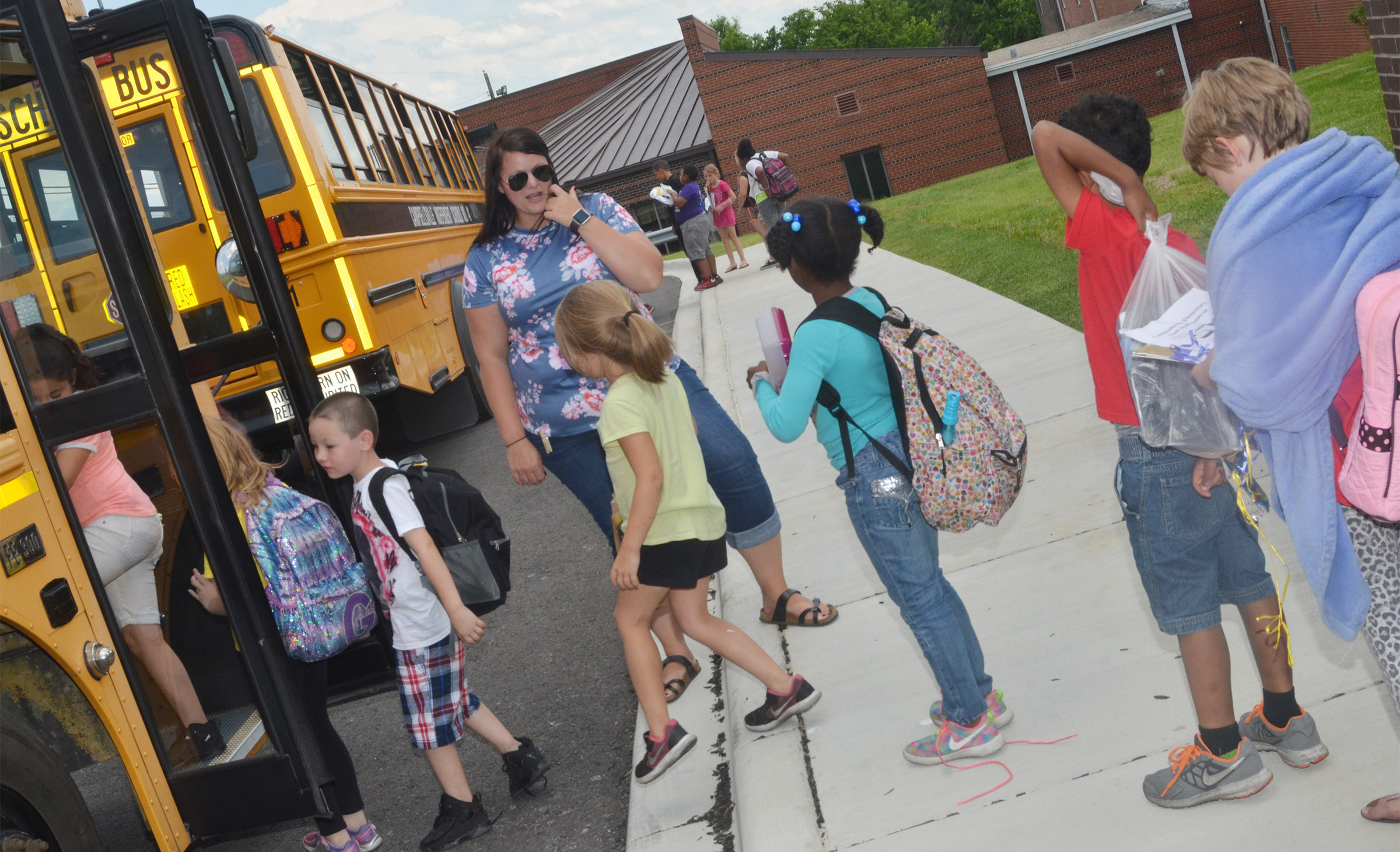 CES Explorers Miriah Cox says goodbye to her students.