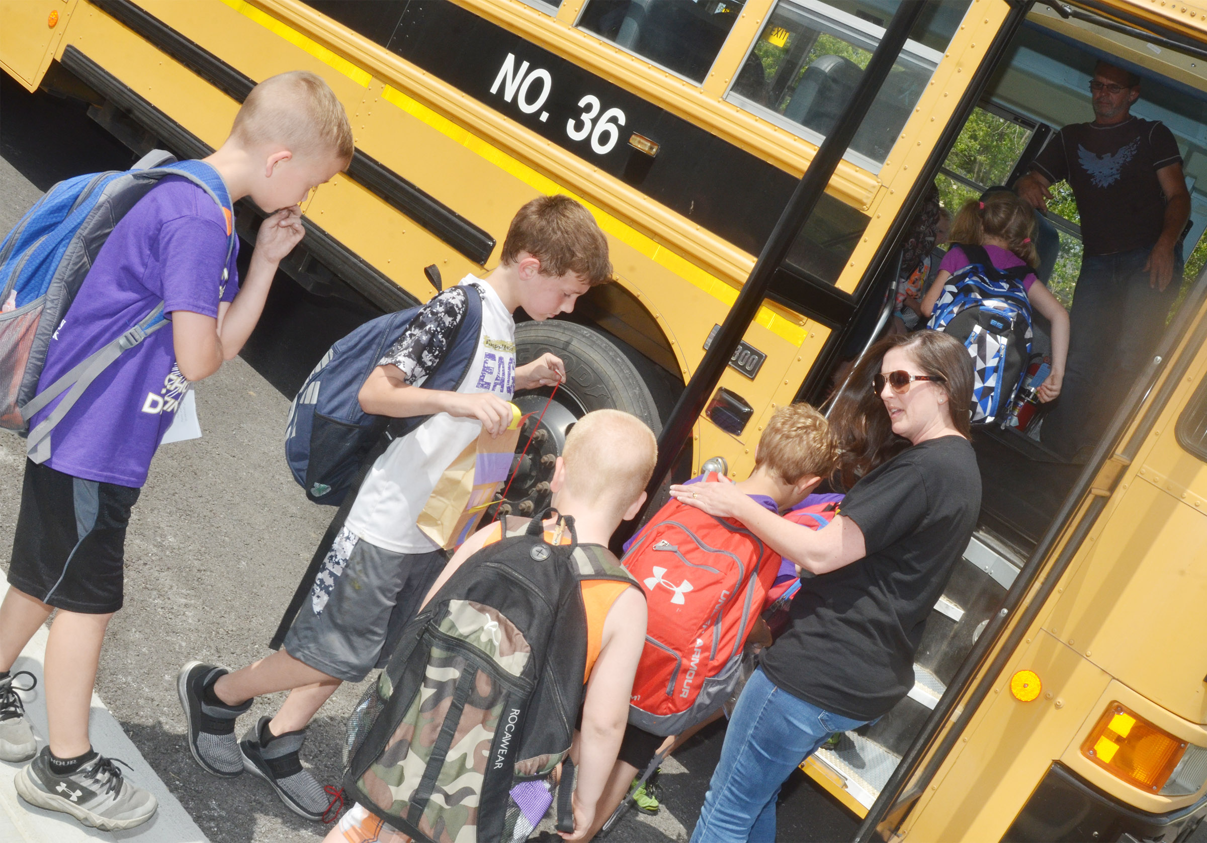 CES students say goodbye to art teacher Adrienne Hash.