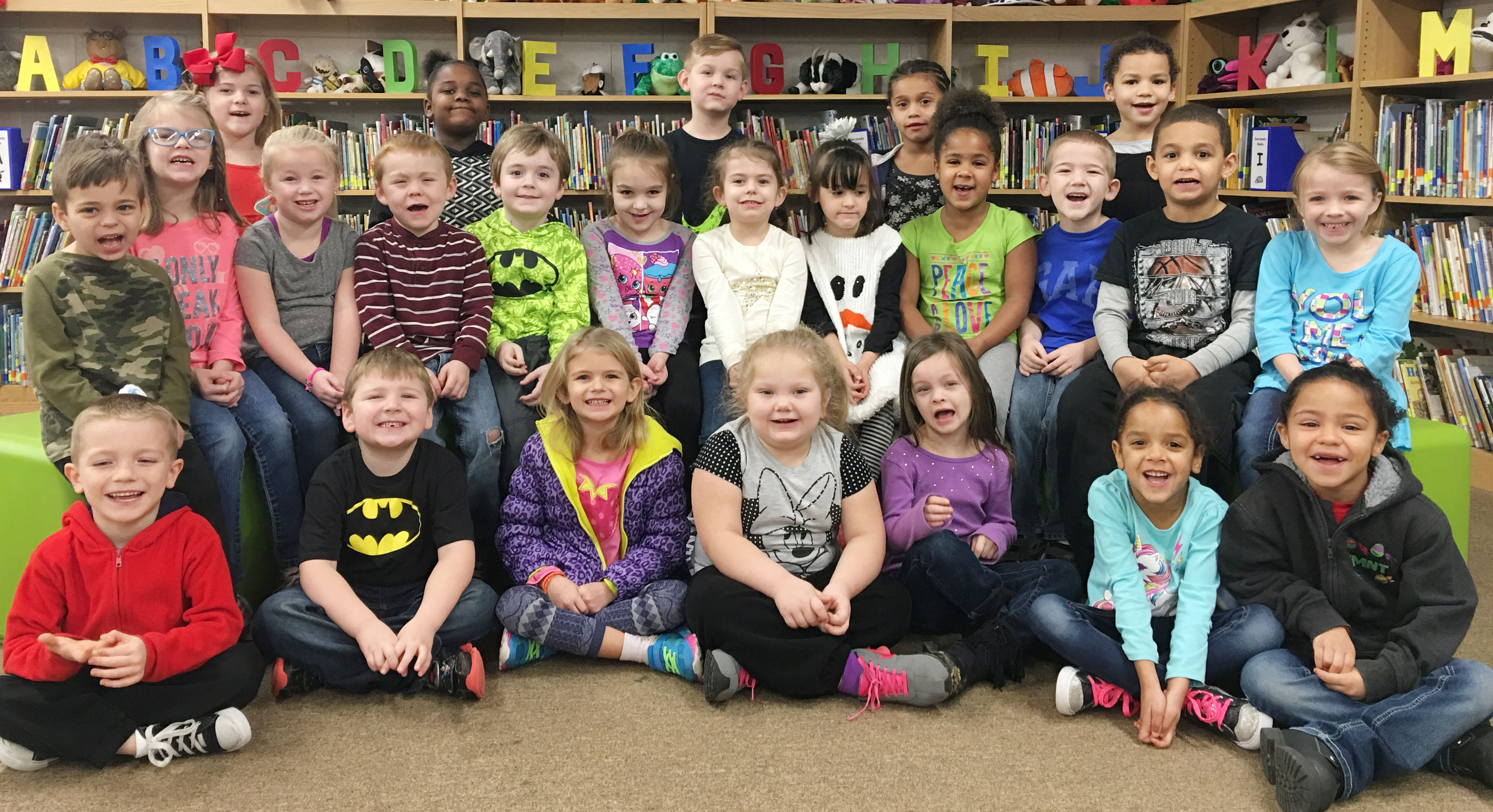 CES kindergarteners are honored for leveling up with Lexia or Reading Plus.